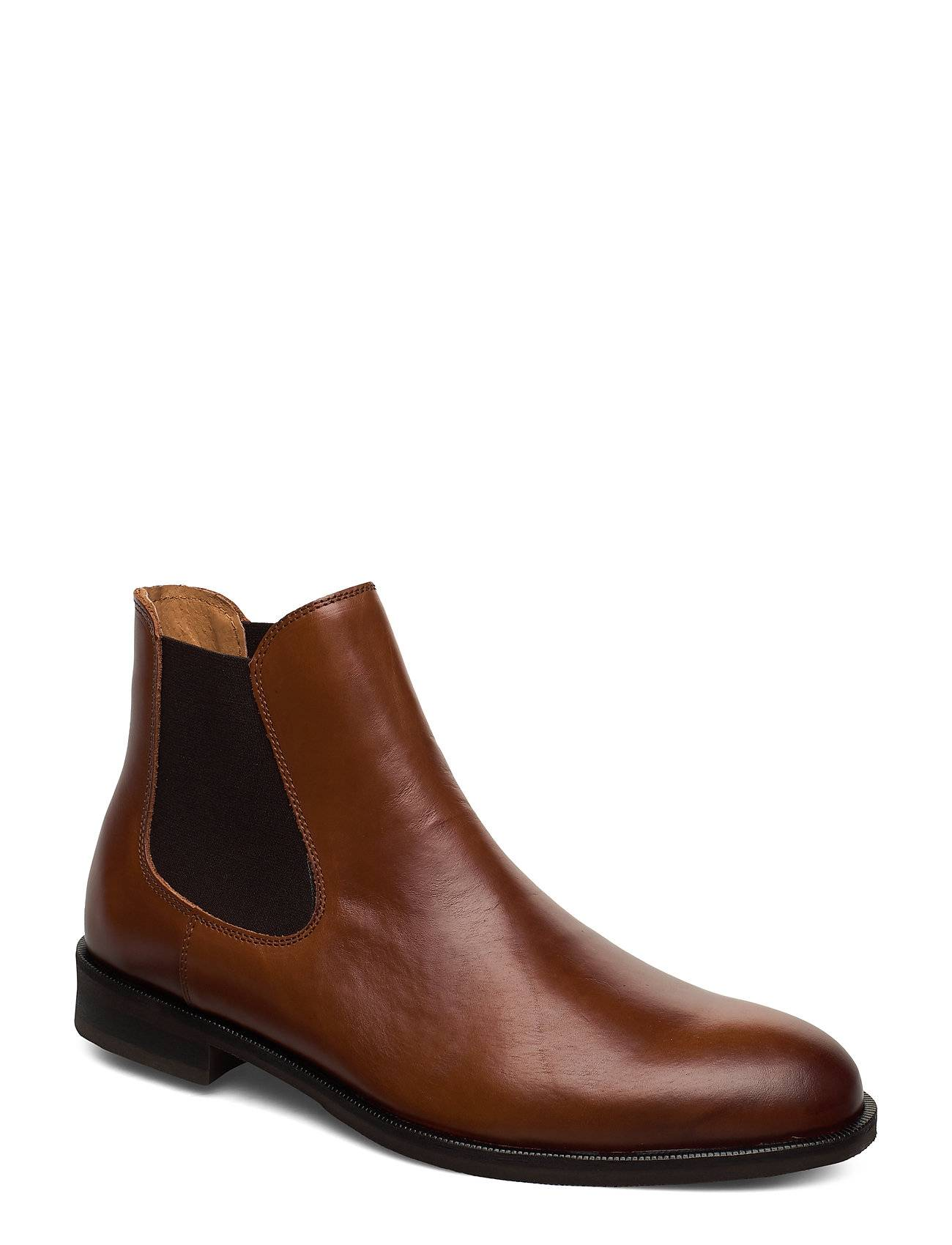 Selected Homme Slhlouis Leather Chelsea Boot B Noos Shoes Chelsea Boots Ruskea Selected Homme
