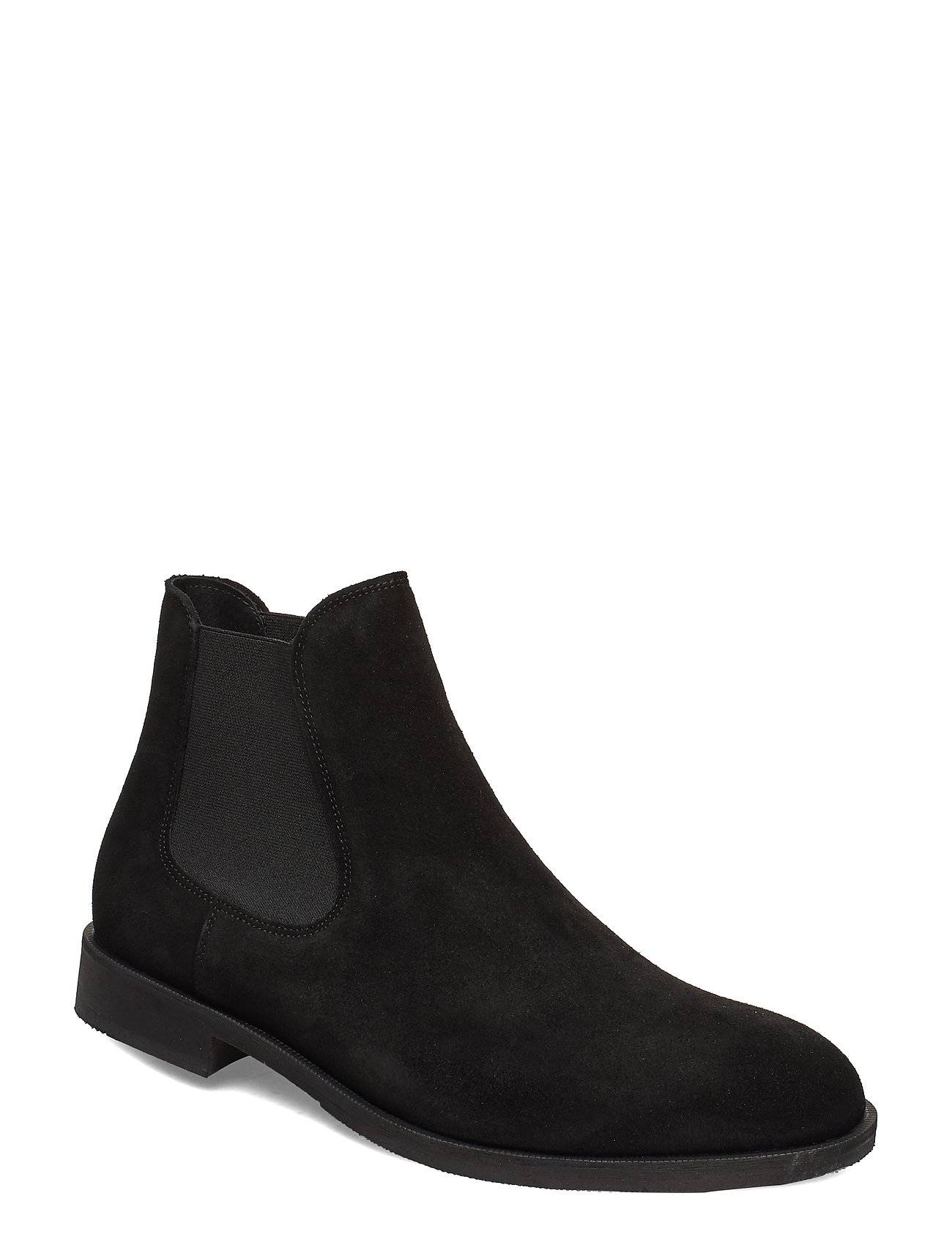 Selected Homme Slhlouis Suede Chelsea Boot B Noos Shoes Chelsea Boots Musta Selected Homme