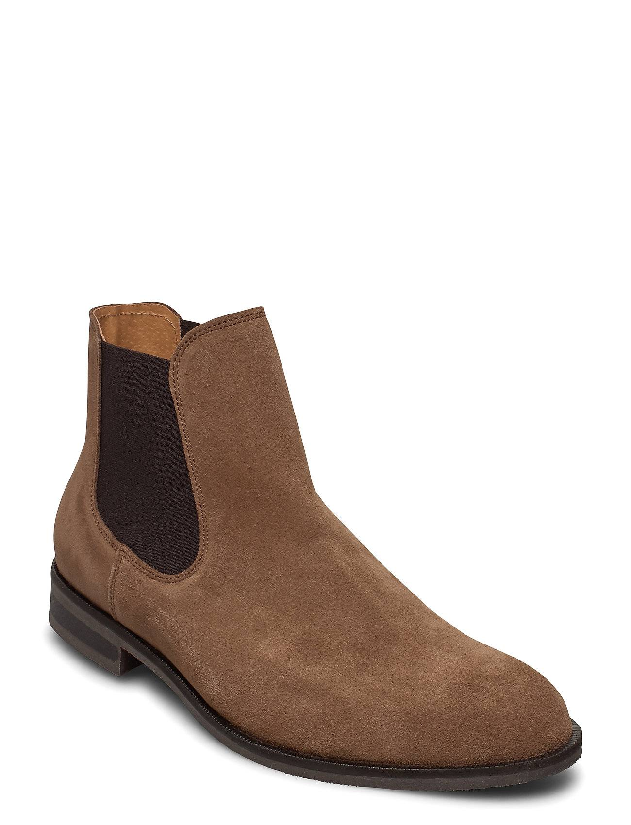 Selected Homme Slhlouis Suede Chelsea Boot B Noos Shoes Chelsea Boots Ruskea Selected Homme