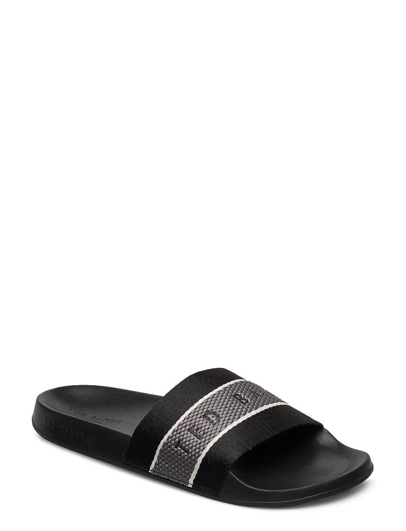 Ted Baker Rastar Shoes Summer Shoes Pool Sliders Musta Ted Baker