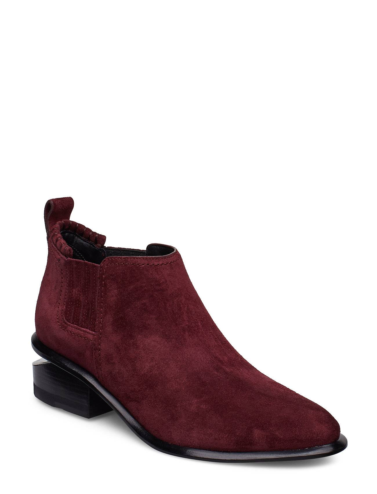 Alexander Wang Kori Burgundy Suede/Rd Shoes Boots Ankle Boots Ankle Boots With Heel Punainen Alexander Wang