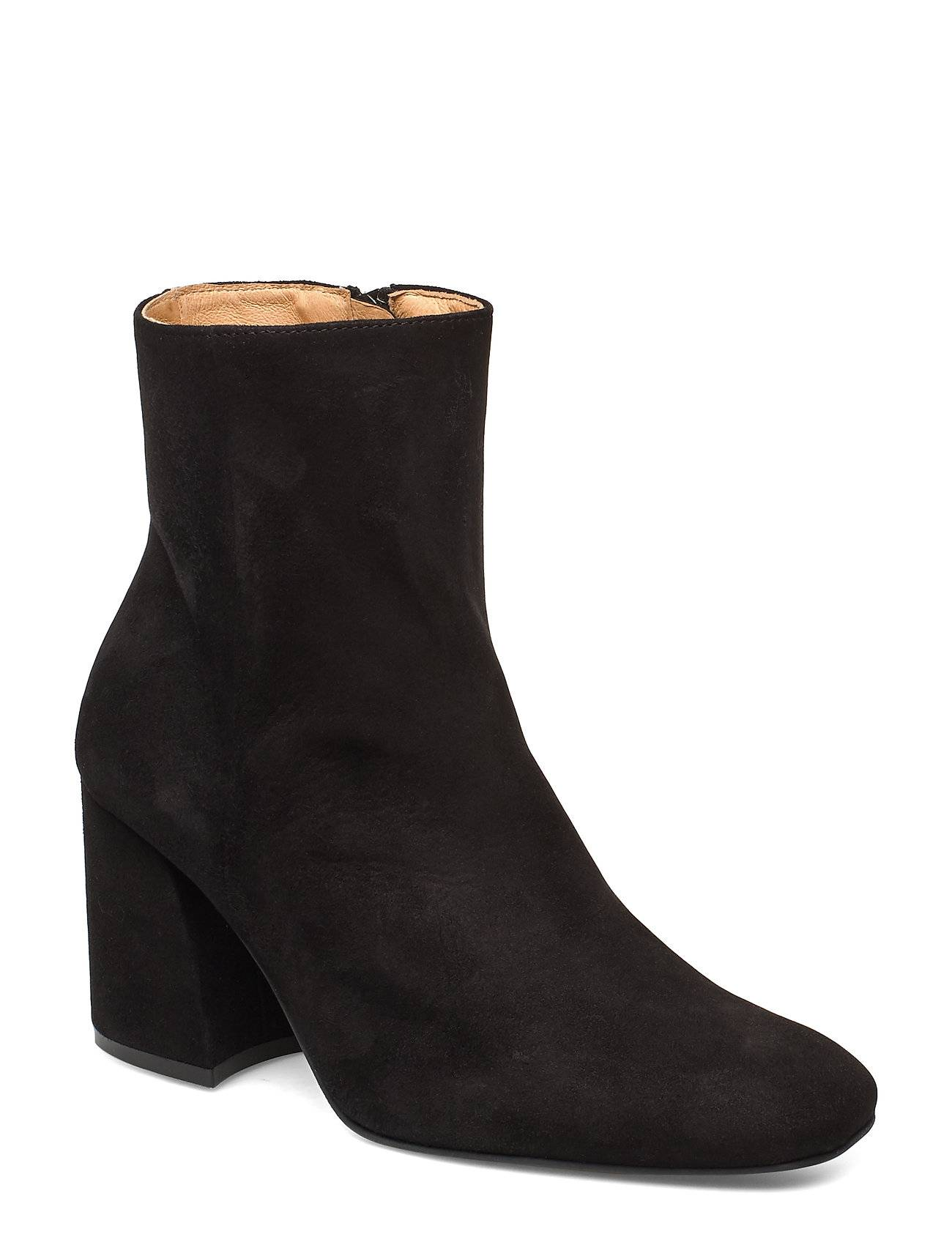 ANNY NORD Ms Steinem Shoes Boots Ankle Boots Ankle Boot - Heel Musta ANNY NORD