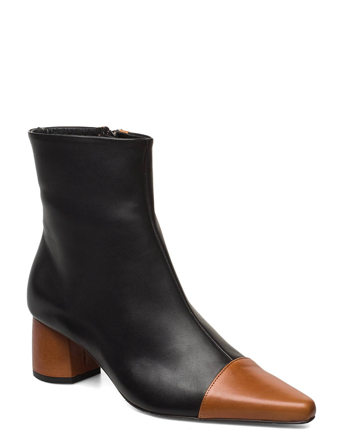 ANNY NORD Rocket Career Shoes Boots Ankle Boots Ankle Boots With Heel Musta
