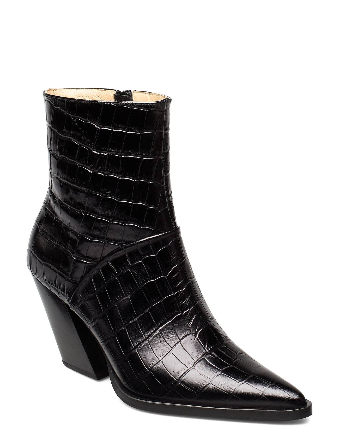 ANNY NORD Escape From The West Ankle Boot Shoes Boots Ankle Boots Ankle Boots With Heel Musta