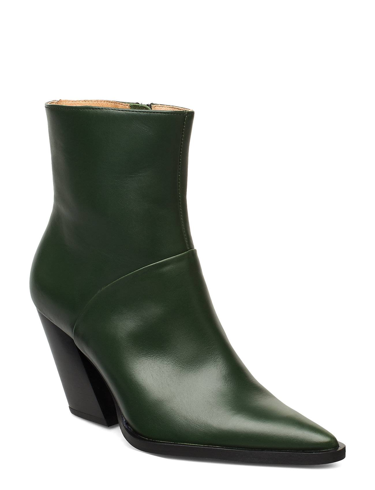 ANNY NORD Escape From The West Ankle Boot Shoes Boots Ankle Boots Ankle Boots With Heel Vihreä