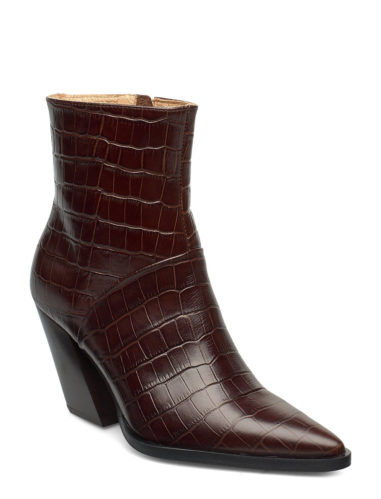 ANNY NORD Escape From The West Ankle Boot Shoes Boots Ankle Boots Ankle Boots With Heel Ruskea