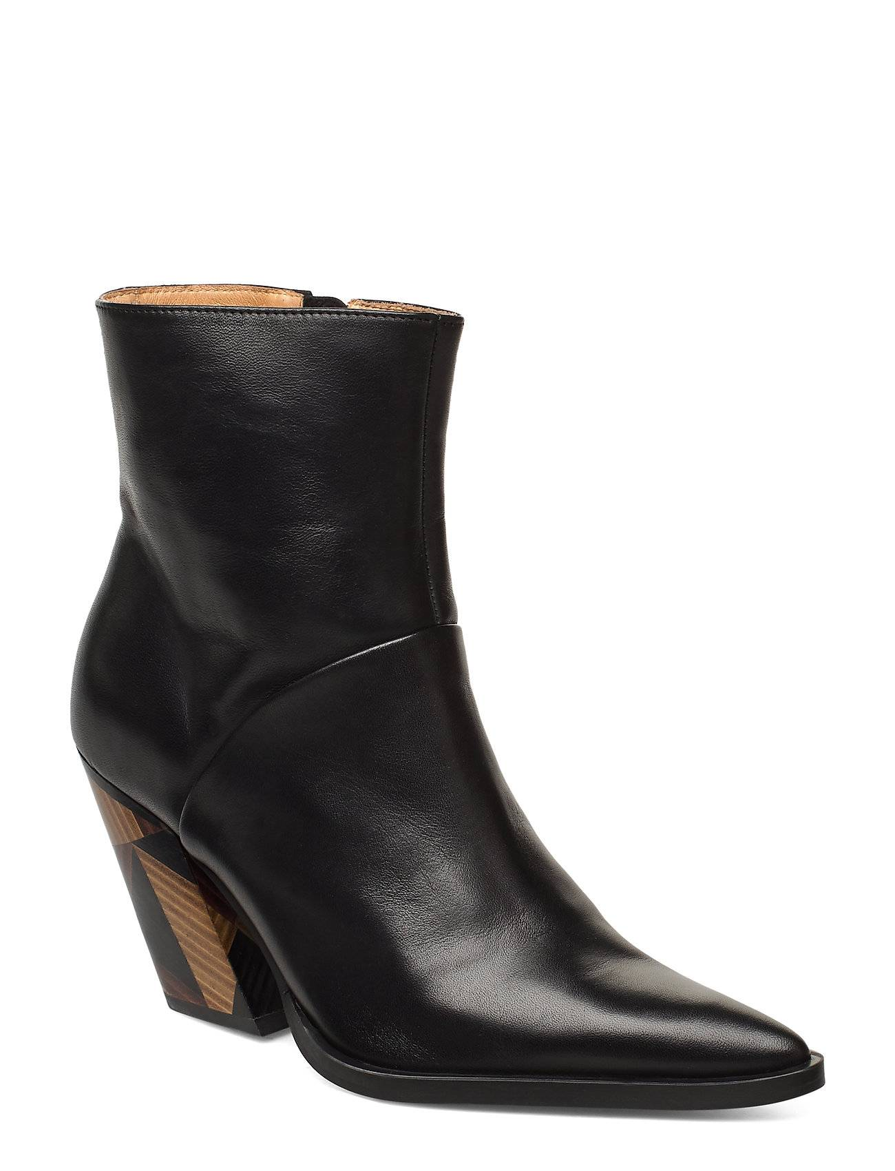 ANNY NORD Escape From Reality Shoes Boots Ankle Boots Ankle Boots With Heel Musta