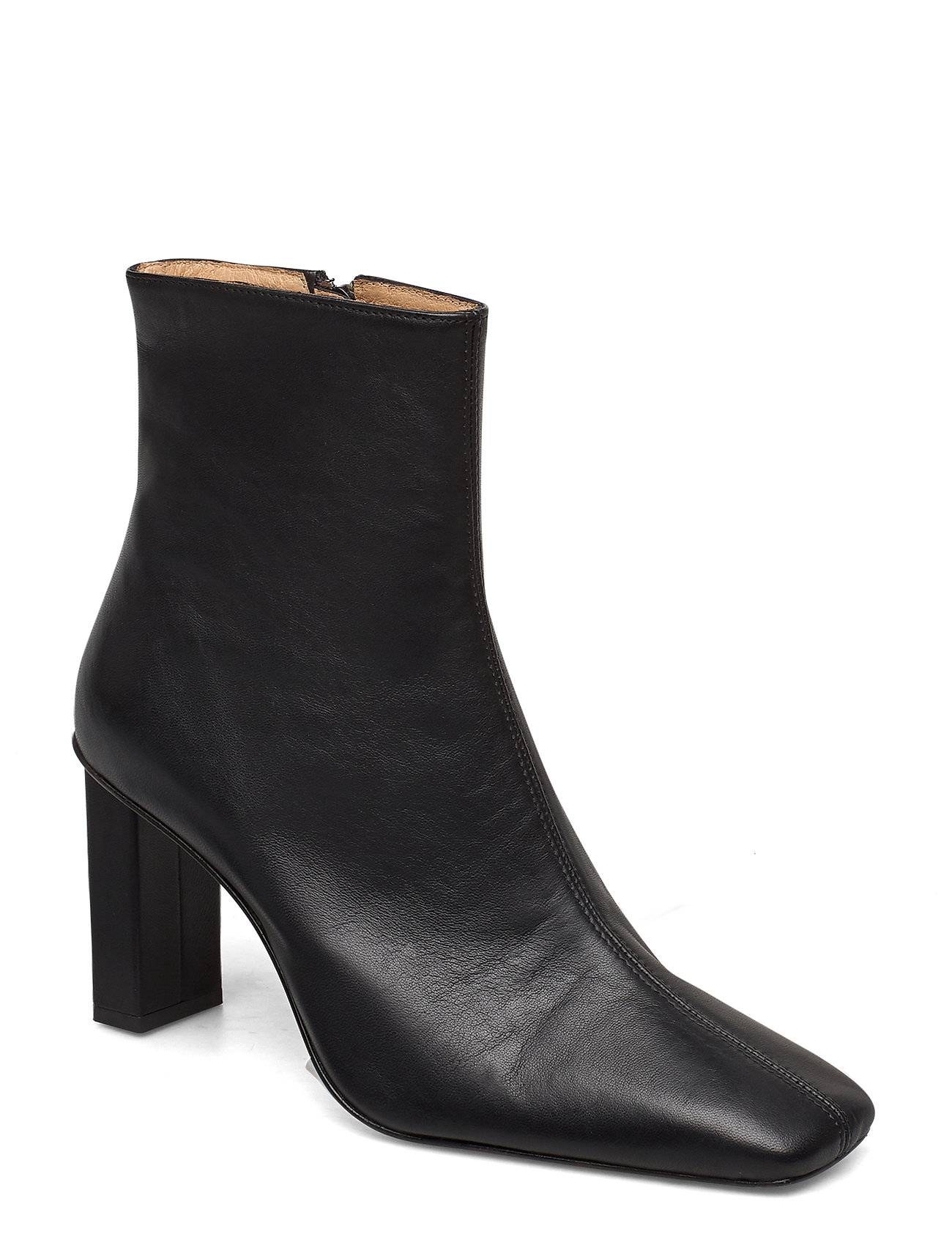 ANNY NORD Joan Le CarrÉ Ankle Boot Shoes Boots Ankle Boots Ankle Boot - Heel Musta ANNY NORD