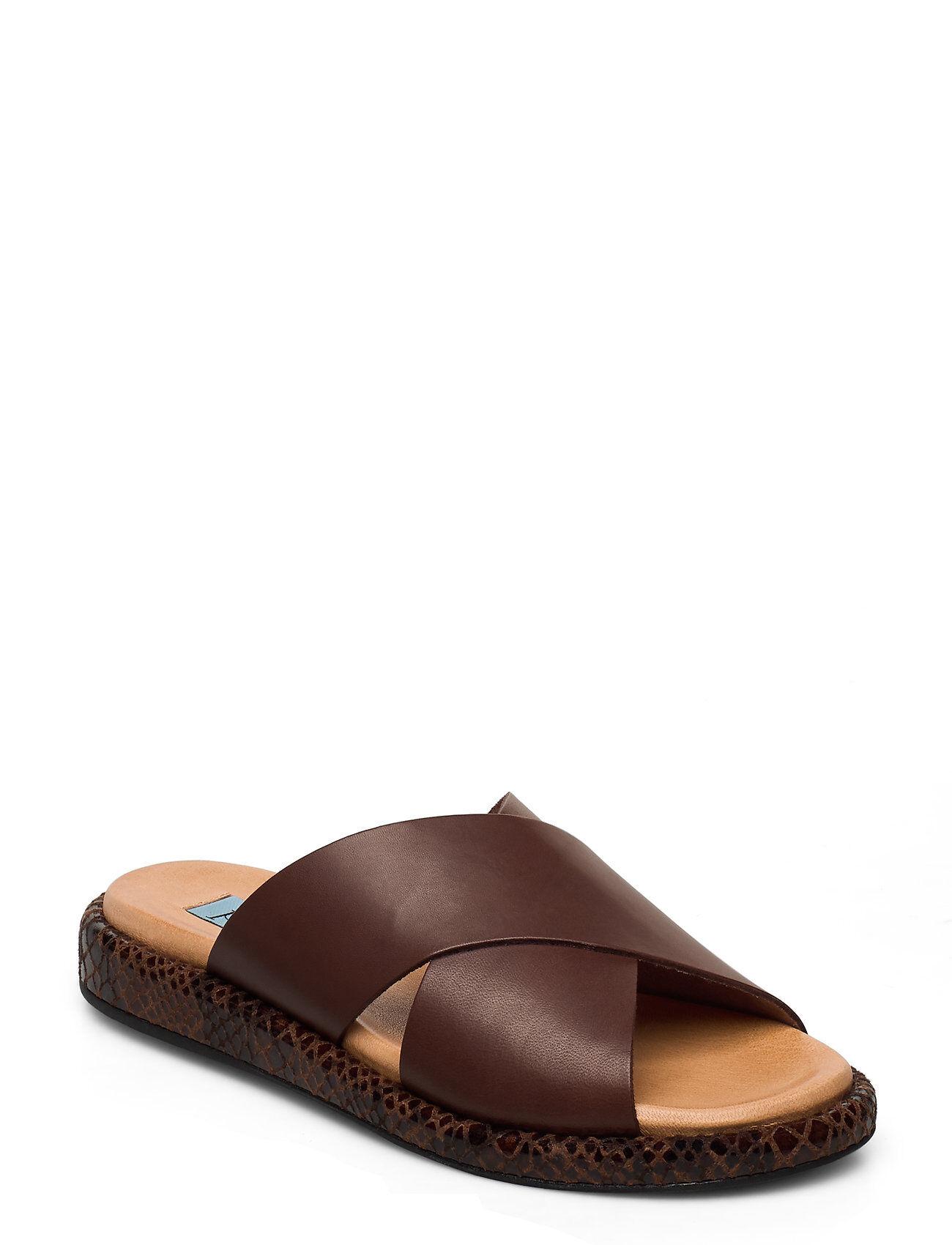 Apair Plateau Cross Mix Shoes Summer Shoes Flat Sandals Ruskea Apair