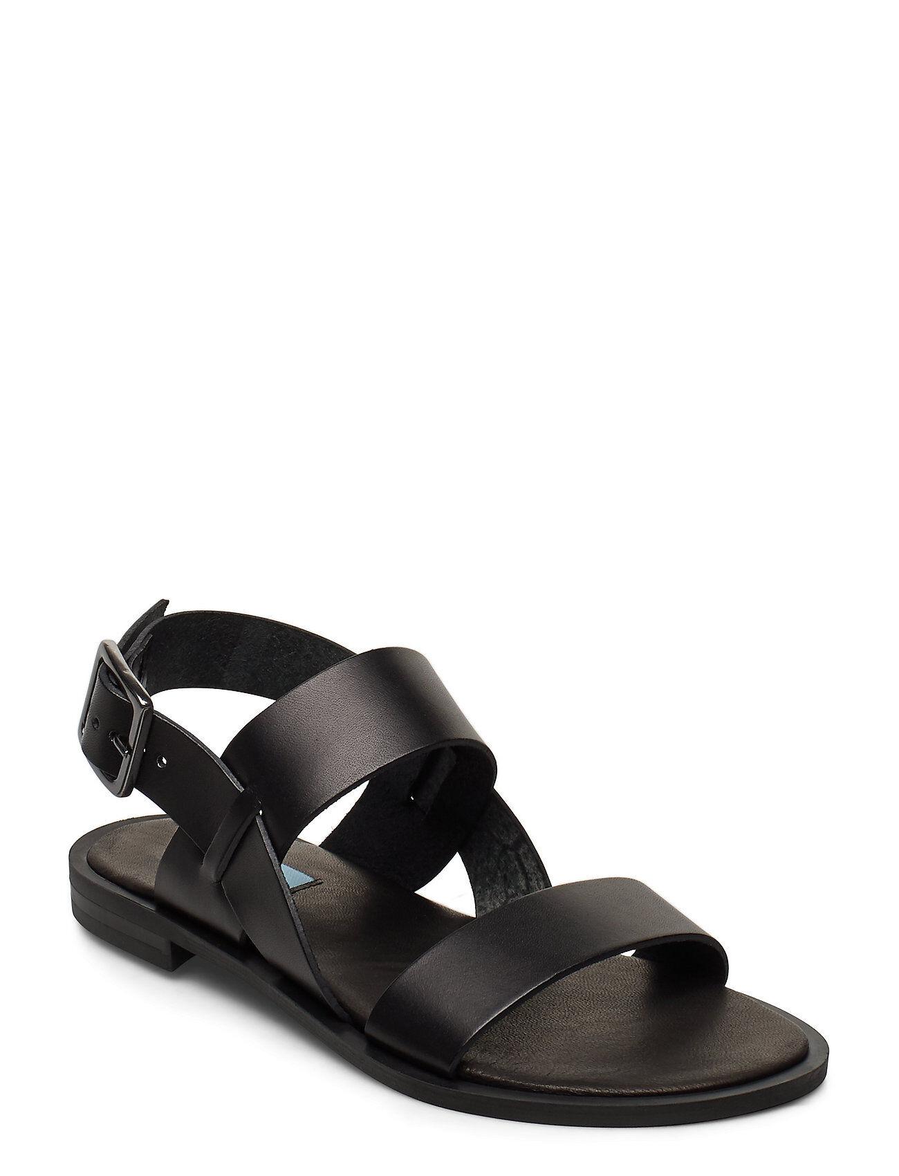 Apair 2 String Simple Round Shoes Summer Shoes Flat Sandals Musta Apair