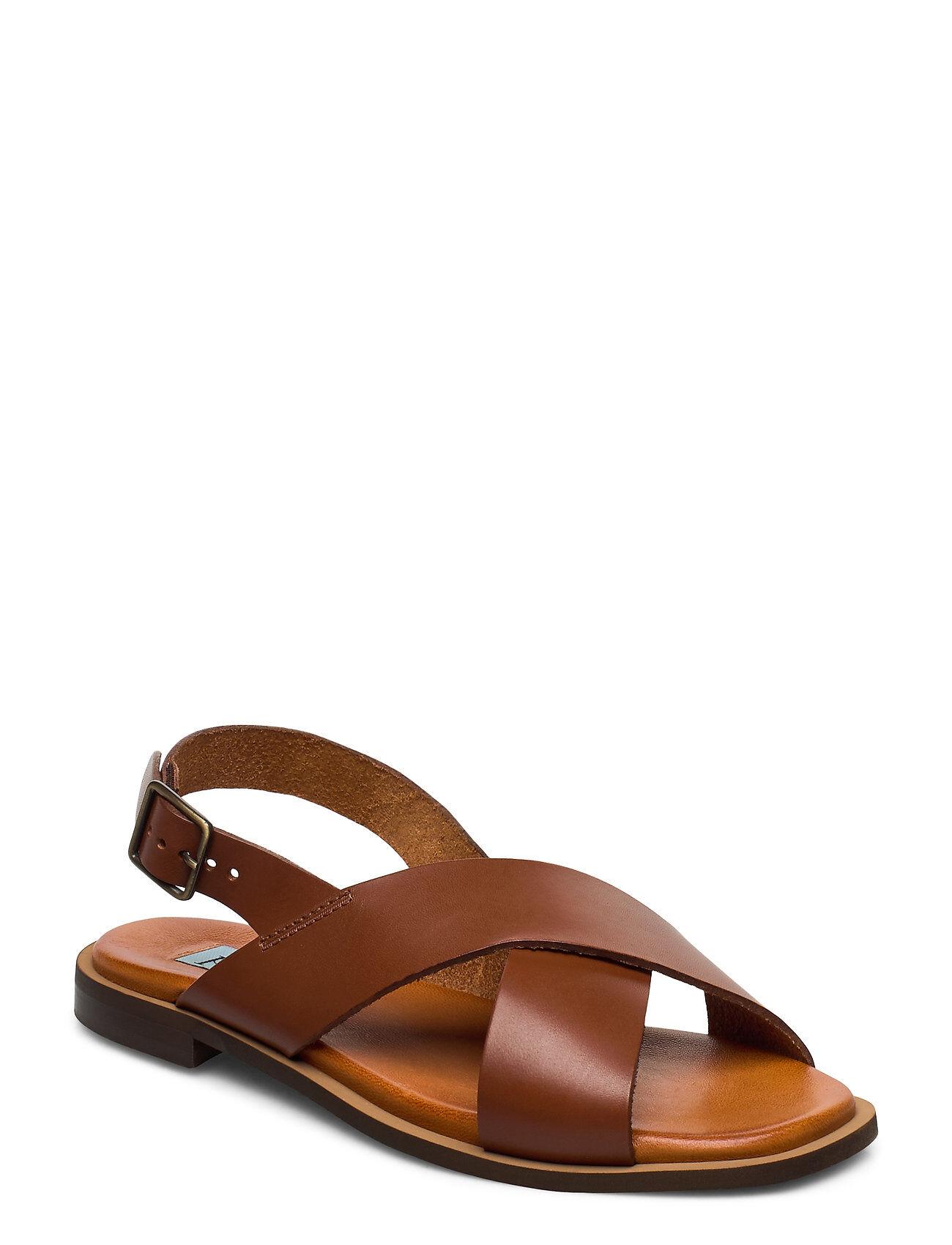 Apair Cross Classic Square Shoes Summer Shoes Flat Sandals Ruskea Apair