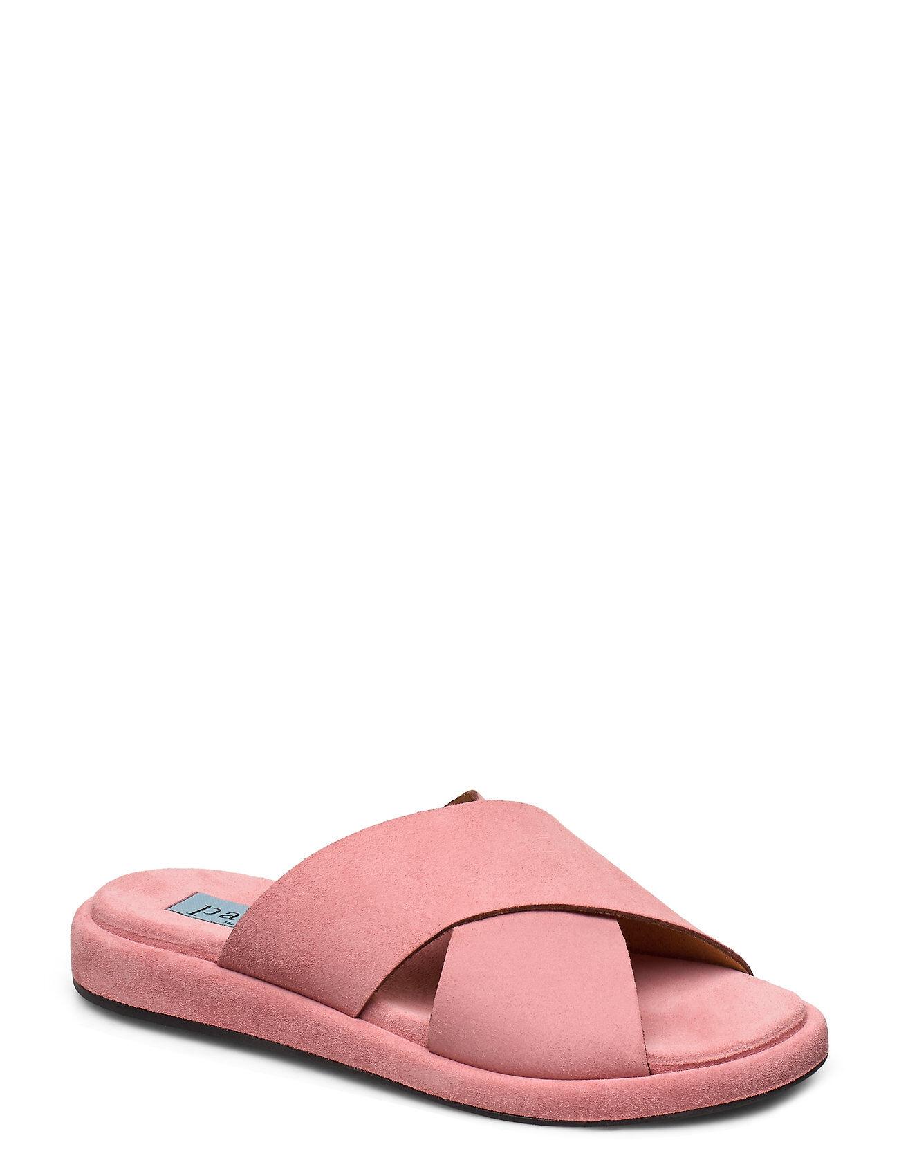 Apair Plateau Cross Simple Shoes Summer Shoes Flat Sandals Vaaleanpunainen Apair