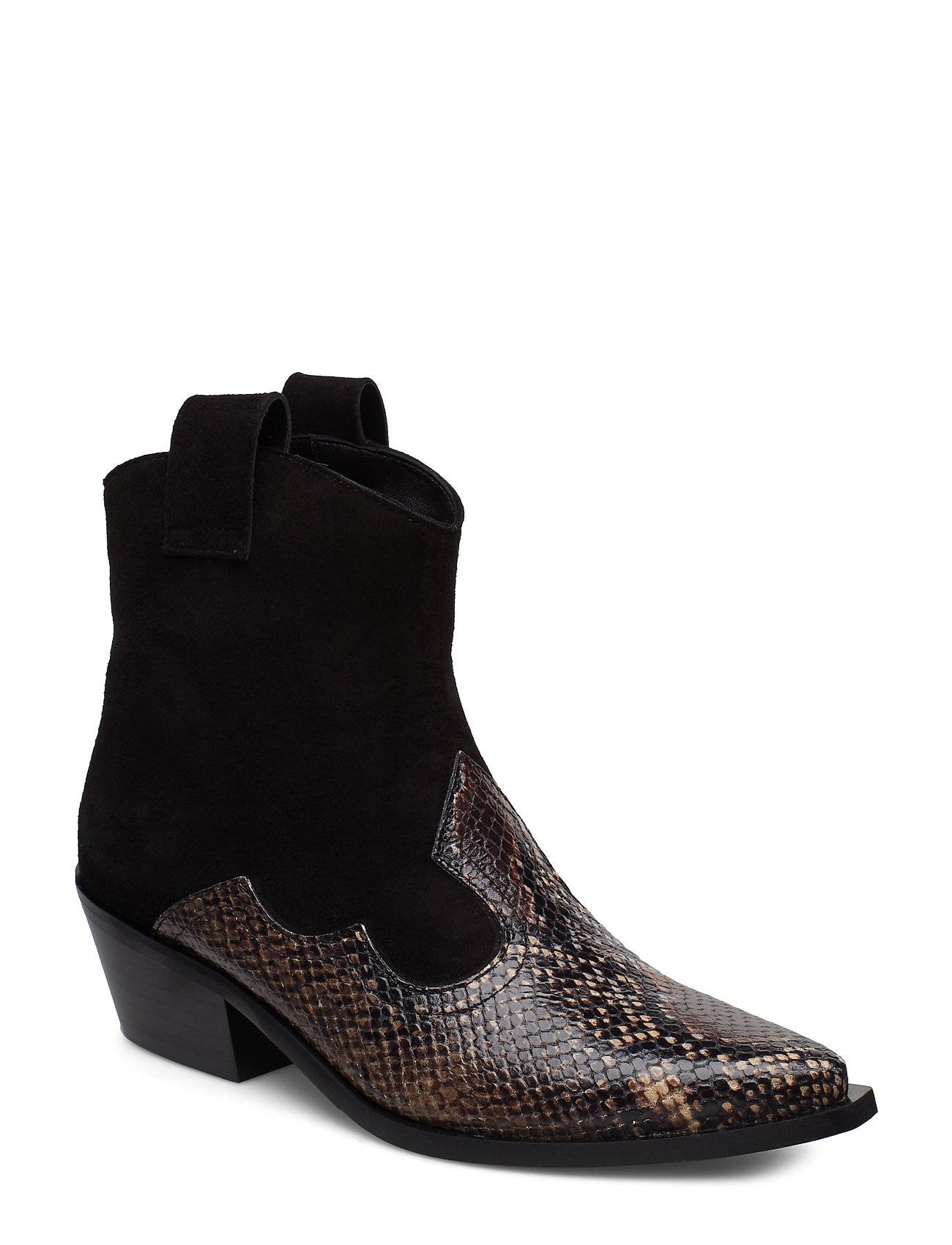 Apair Western Strap Shoes Boots Ankle Boots Ankle Boots With Heel Ruskea Apair