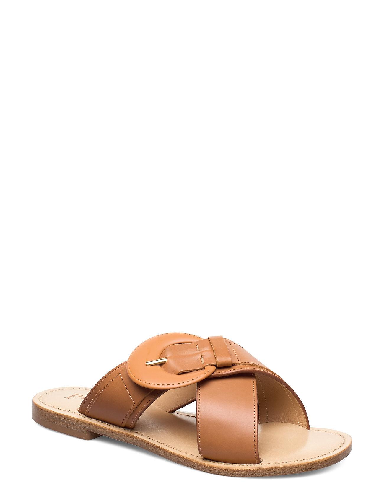 Apair Buckle Luxury Sandal Shoes Summer Shoes Flat Sandals Ruskea Apair