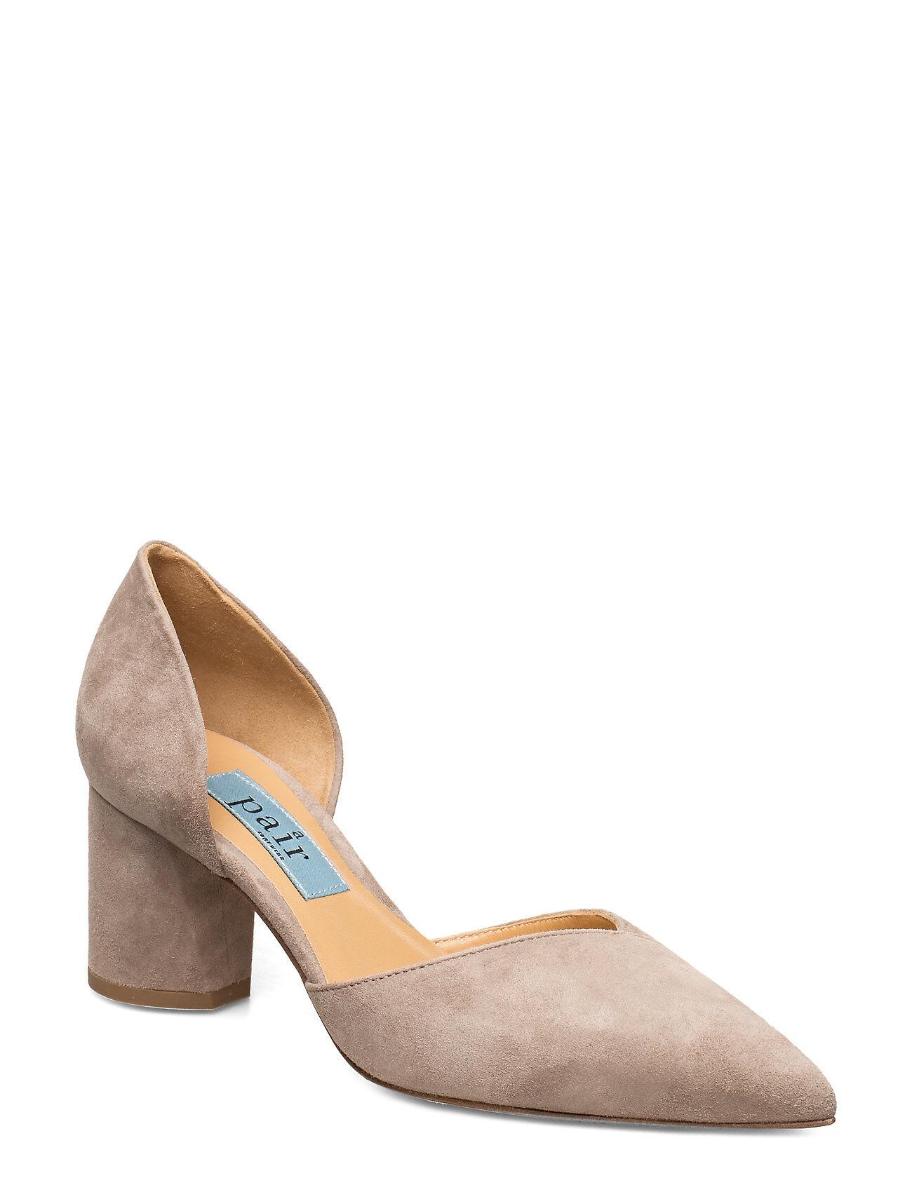 Apair Open Side Low Chunky Shoes Heels Pumps Classic Harmaa Apair