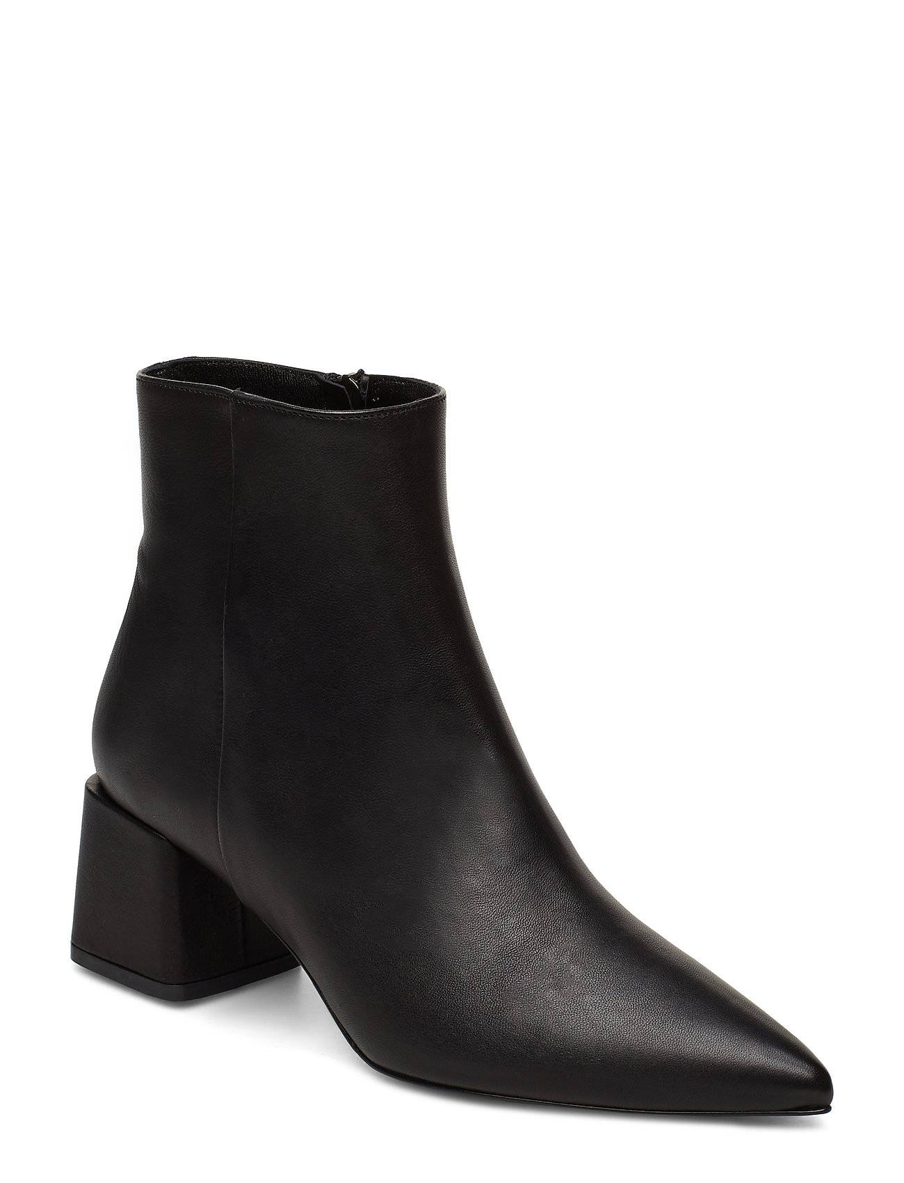Apair Pointed Bootie Shoes Boots Ankle Boots Ankle Boots With Heel Musta Apair