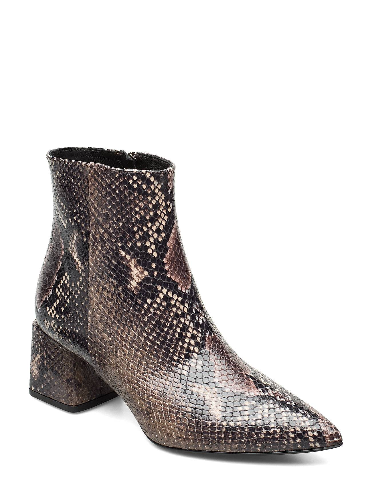 Apair Pointed Bootie Shoes Boots Ankle Boots Ankle Boots With Heel Ruskea Apair