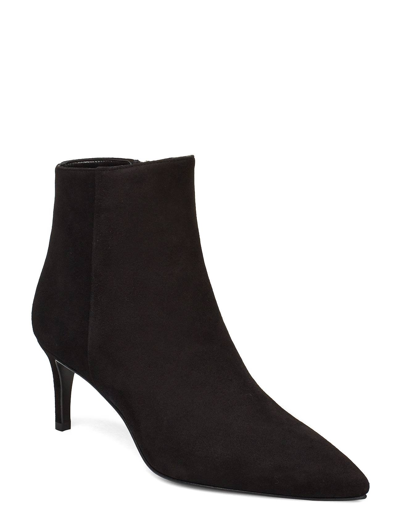 Apair Pointed Bootie Low High Front Shoes Boots Ankle Boots Ankle Boots With Heel Musta Apair