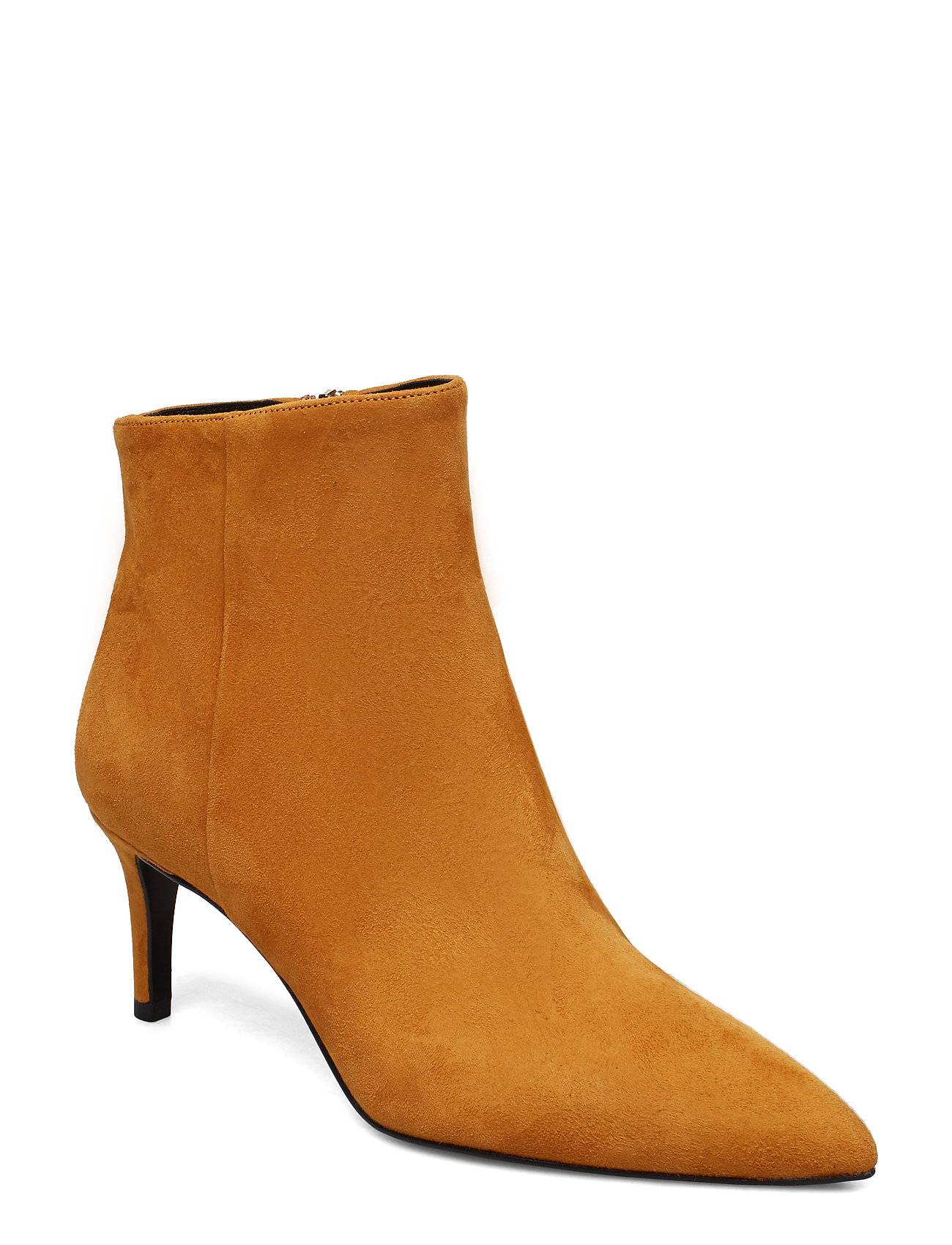 Apair Pointed Bootie Low High Front Shoes Boots Ankle Boots Ankle Boots With Heel Ruskea Apair