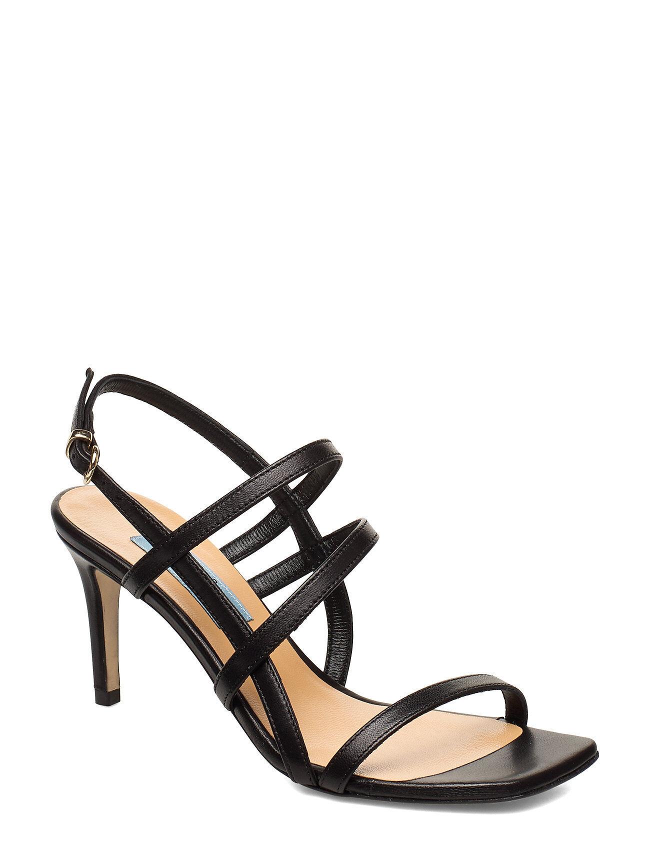 Apair Square String Sandal Korolliset Sandaalit Musta Apair