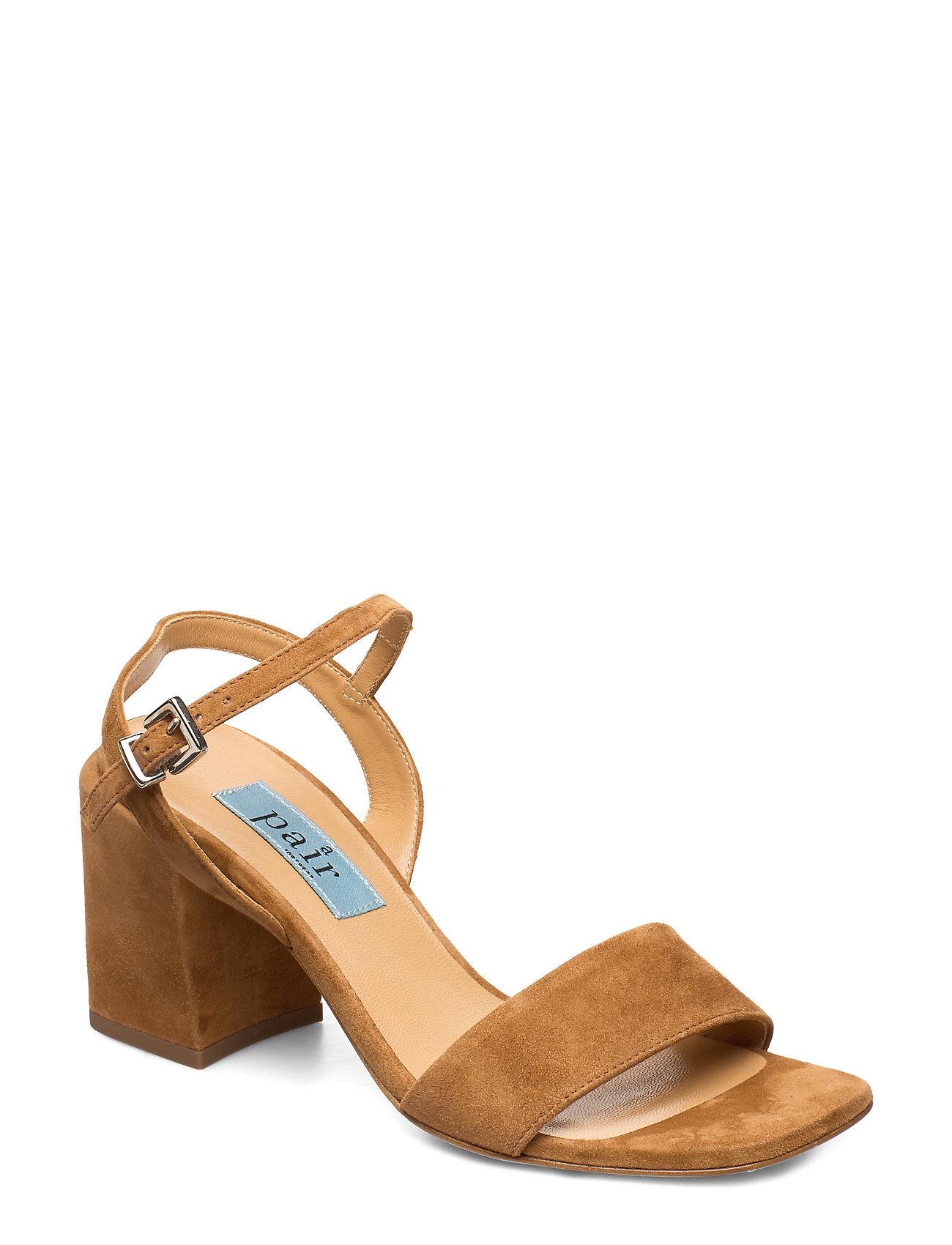 Apair Chunky Classic Square Sandal Korolliset Sandaalit Ruskea Apair
