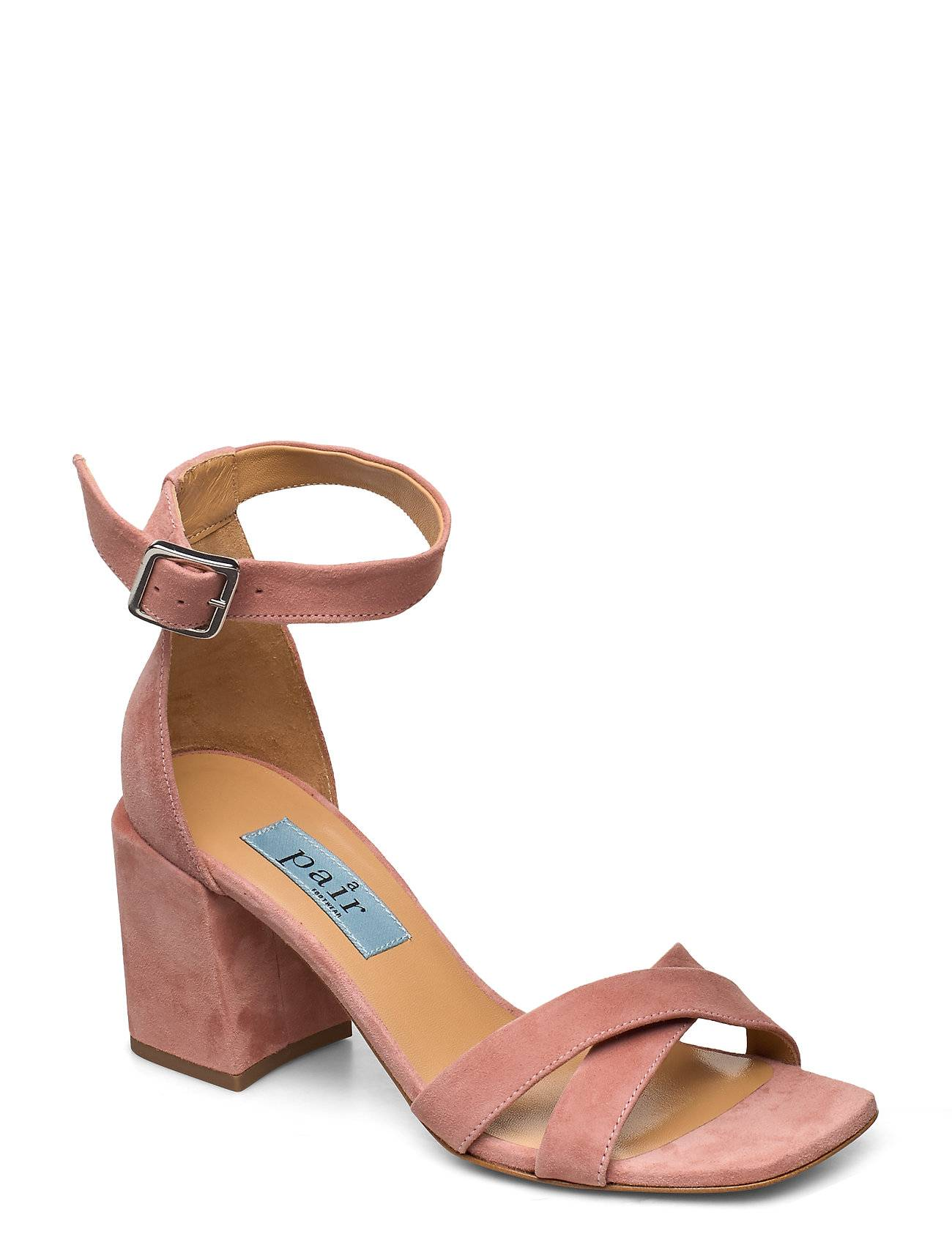 Apair High Cross Chunky Square Korolliset Sandaalit Vaaleanpunainen Apair