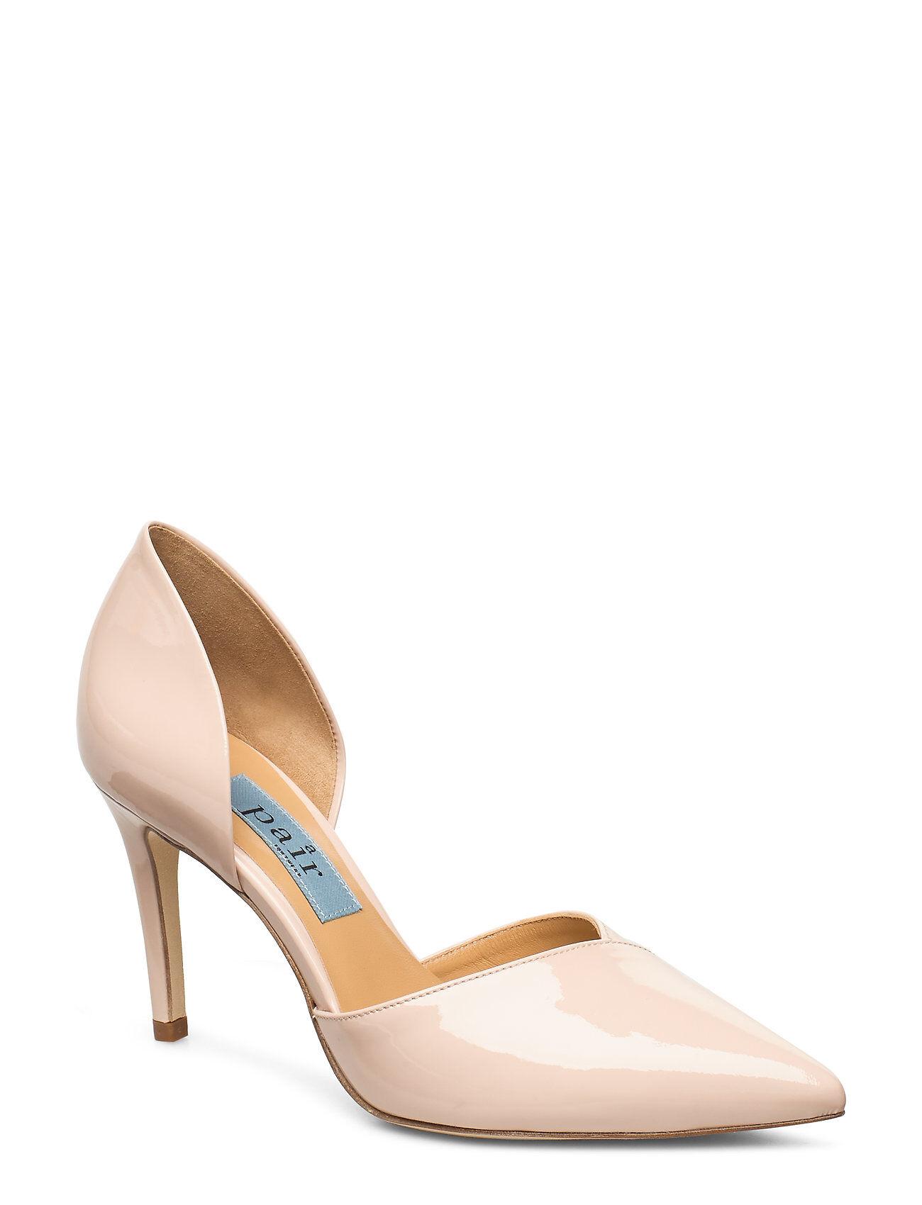 Apair Open Side High Stiletto Shoes Heels Pumps Classic Beige Apair