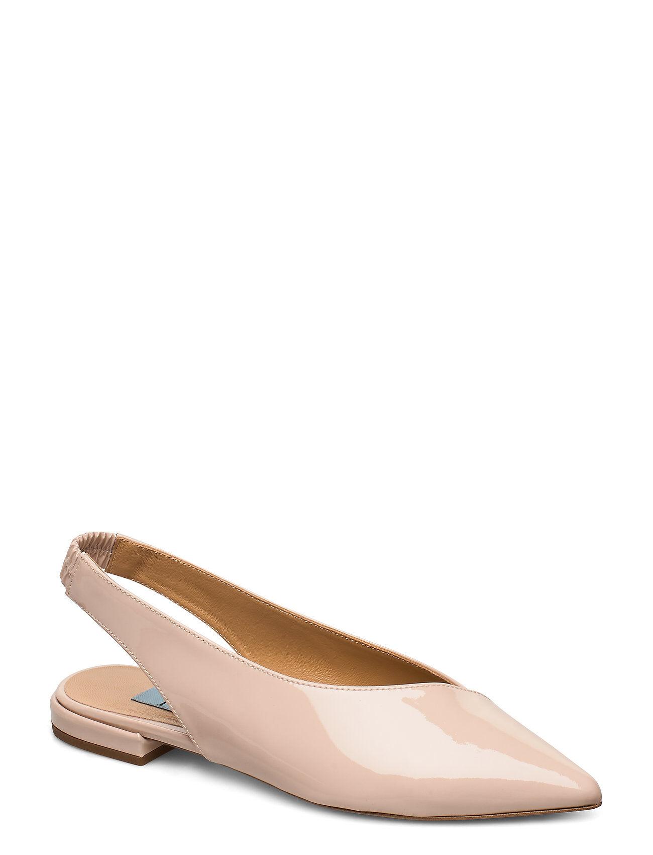 Apair Slingback Flat Shoes Heels Pumps Sling Backs Vaaleanpunainen Apair
