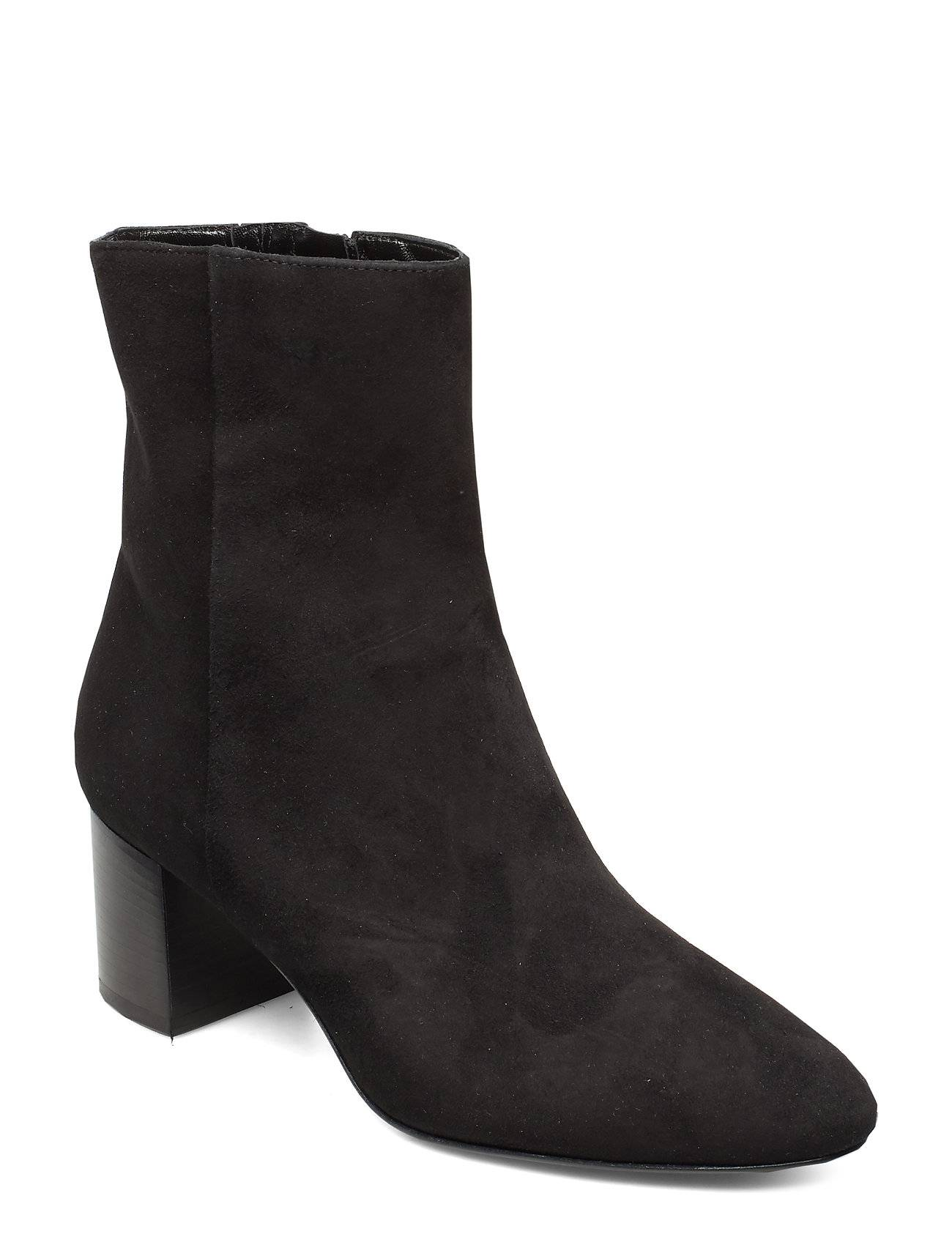 Apair Plan Low Rounded Bootie Shoes Boots Ankle Boots Ankle Boots With Heel Musta Apair