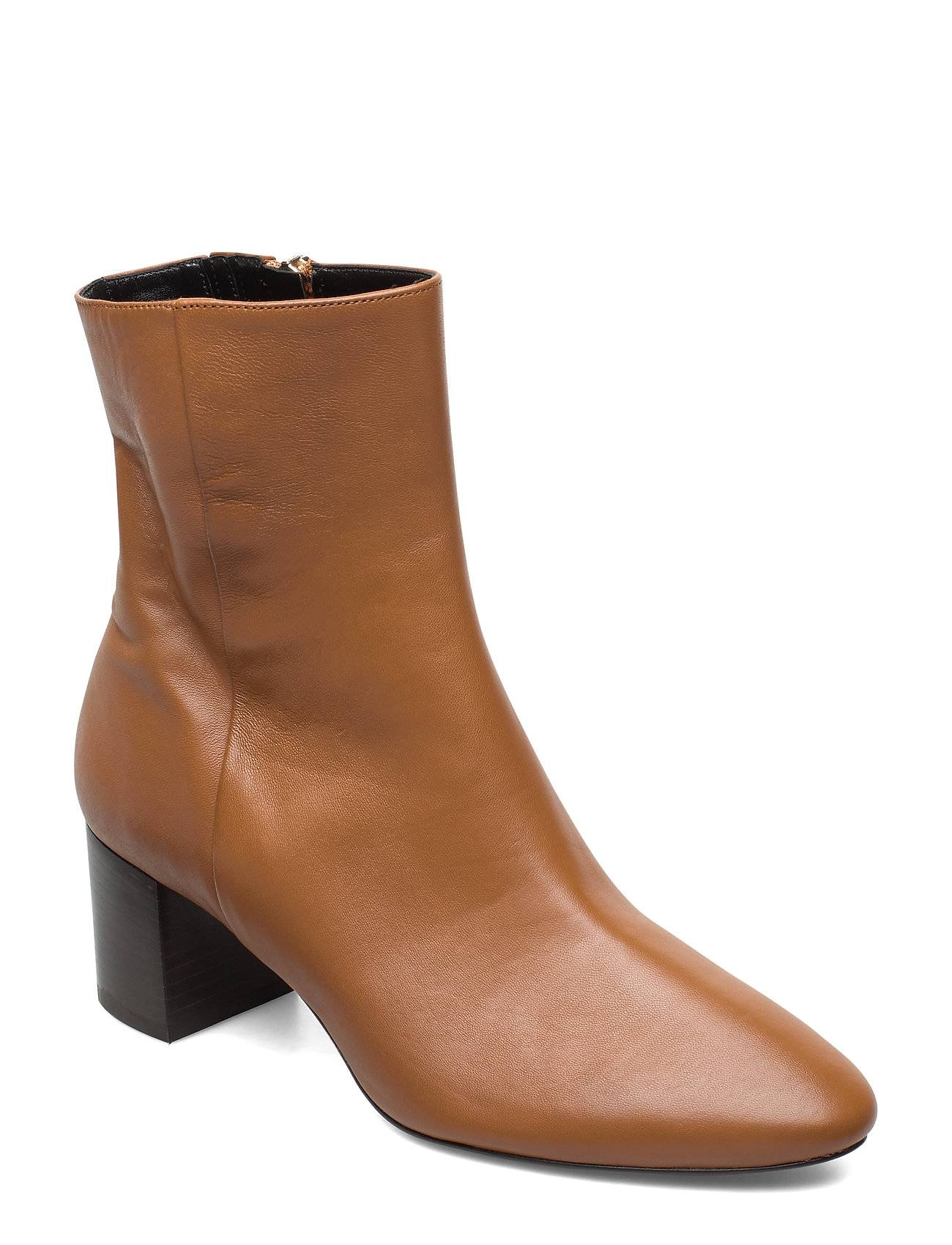 Apair Plan Low Rounded Bootie Shoes Boots Ankle Boots Ankle Boots With Heel Ruskea Apair