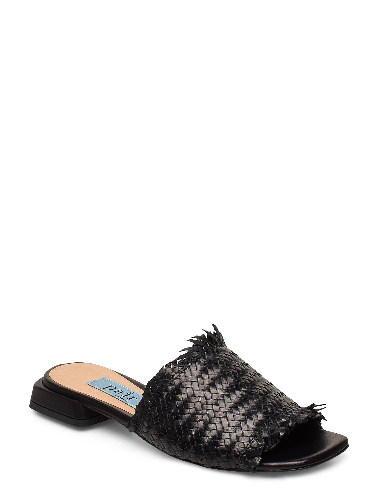 Apair Braided Flat Sandal Shoes Summer Shoes Flat Sandals Musta Apair