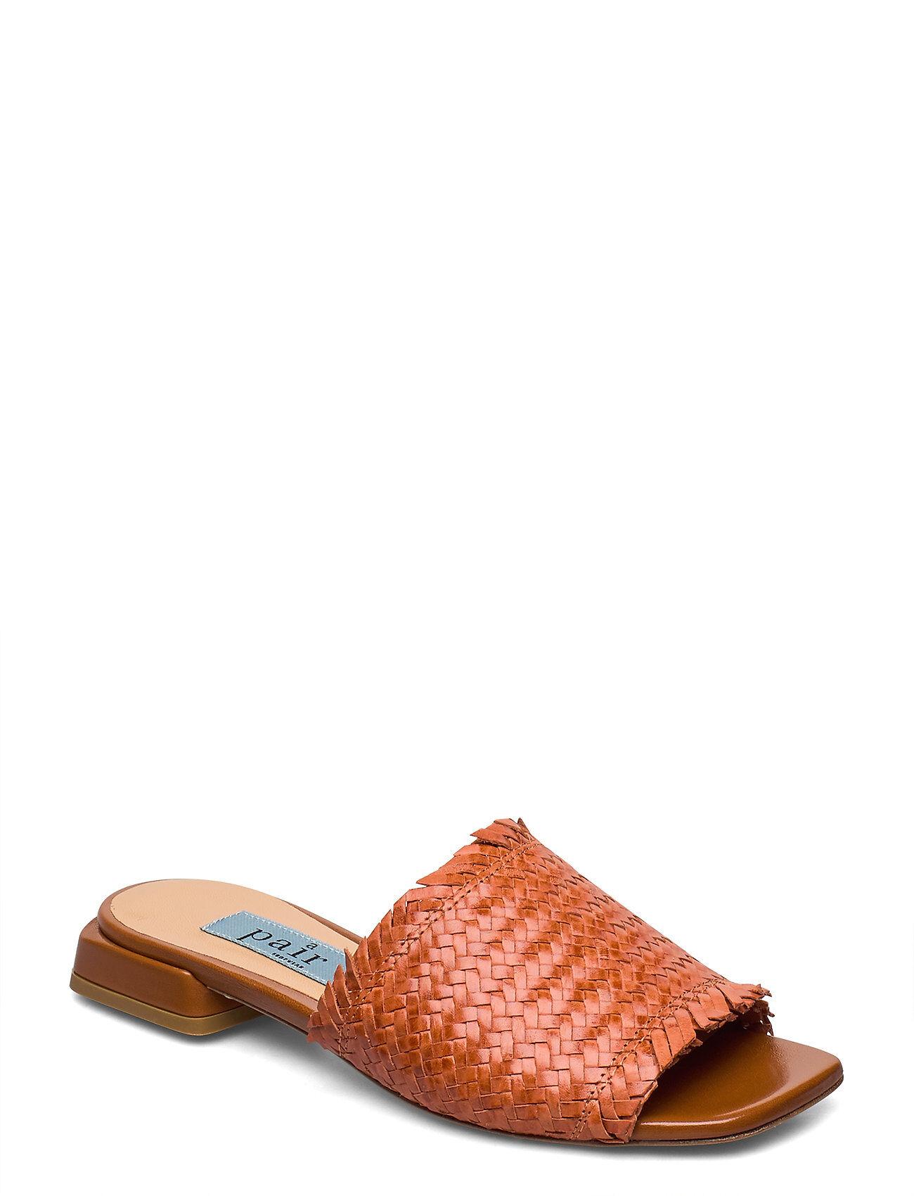 Apair Braided Flat Sandal Shoes Summer Shoes Flat Sandals Ruskea Apair