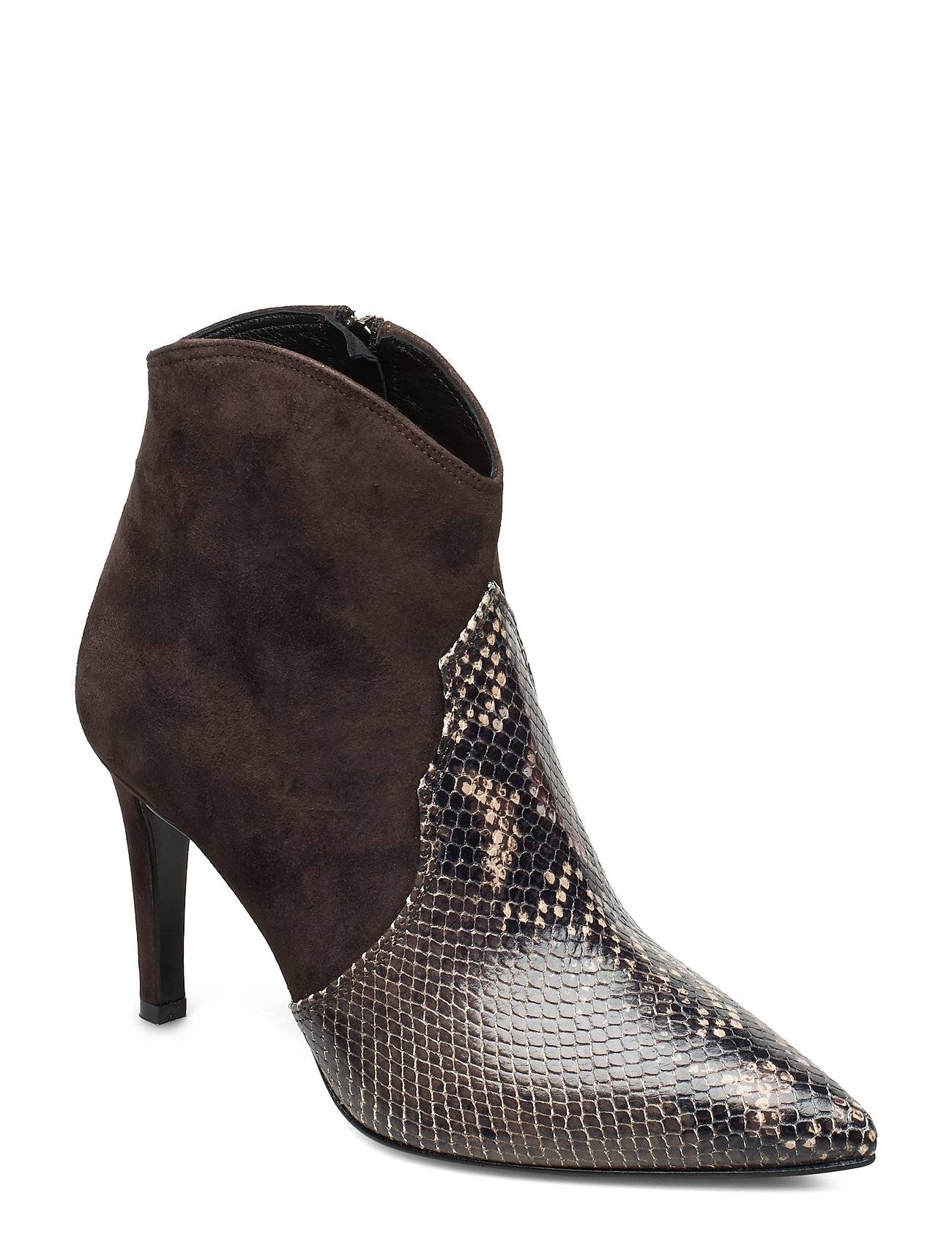 Apair Party Western 2 Leathers Low Shoes Boots Ankle Boots Ankle Boots With Heel Ruskea Apair