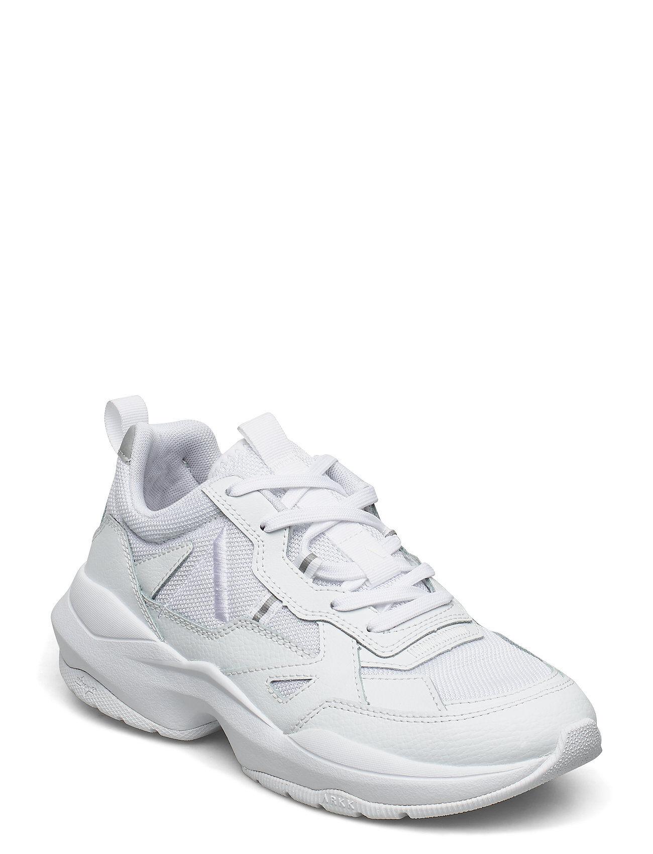 ARKK Copenhagen Quantm Leather T-G9 Triple White - Matalavartiset Sneakerit Tennarit Valkoinen ARKK Copenhagen