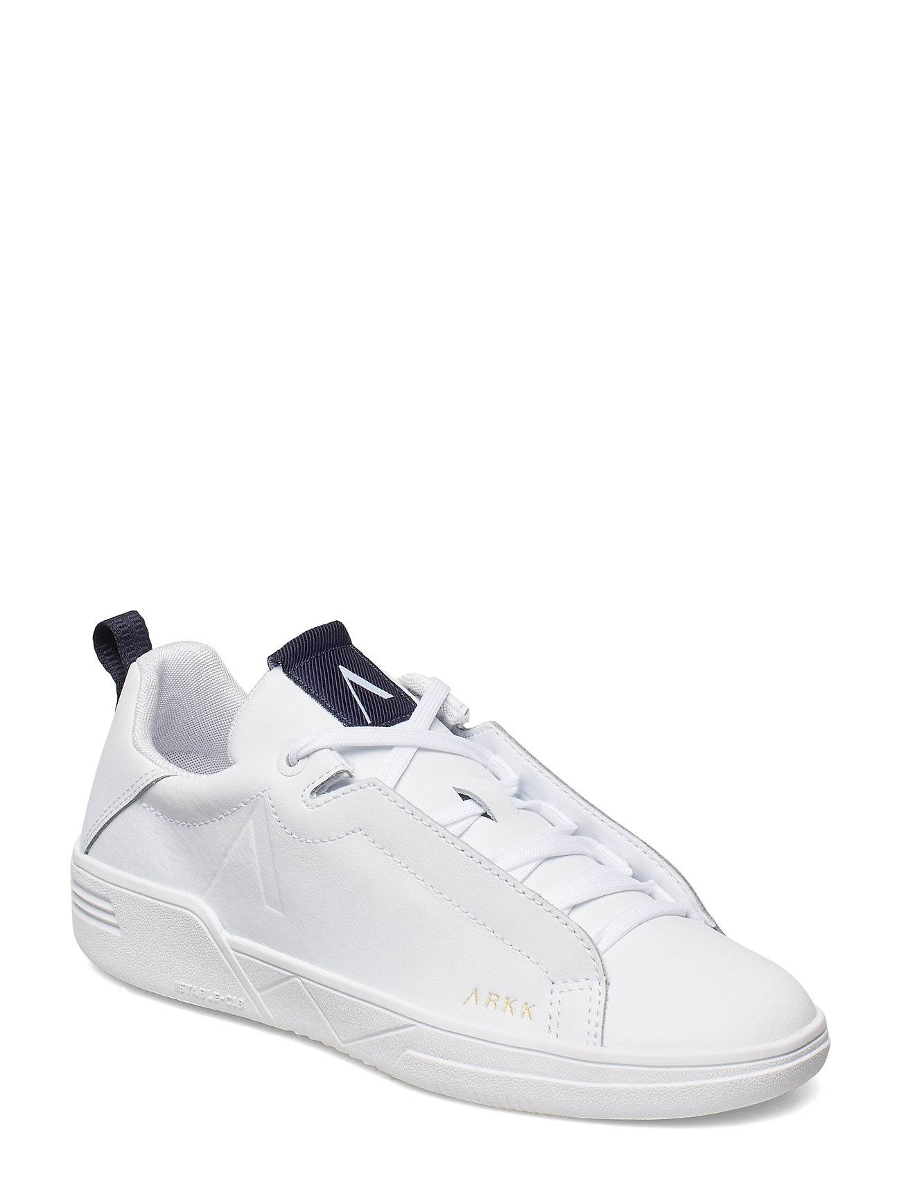 ARKK Copenhagen Uniklass Leather S-C18 White Midnig Matalavartiset Sneakerit Tennarit Valkoinen ARKK Copenhagen