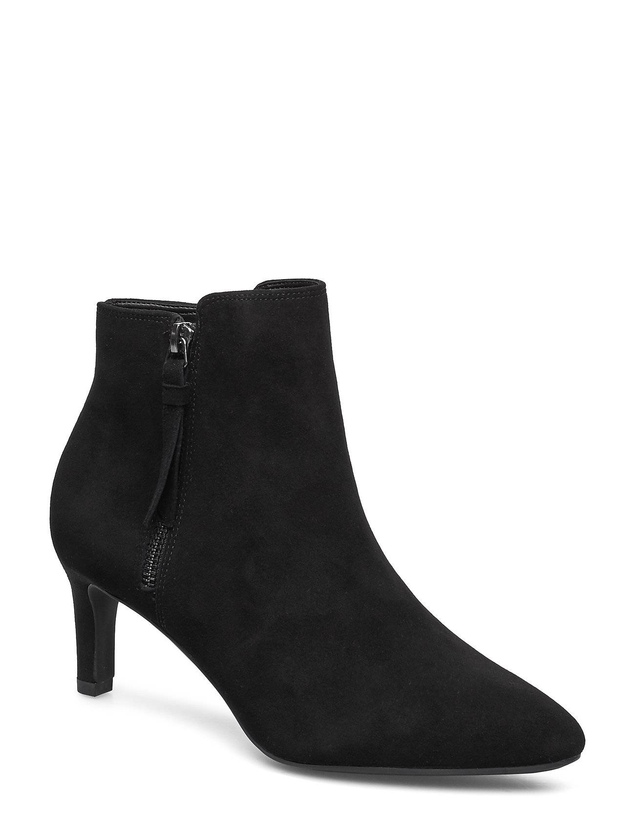 Clarks Calla Blossom Shoes Boots Ankle Boots Ankle Boots With Heel Musta