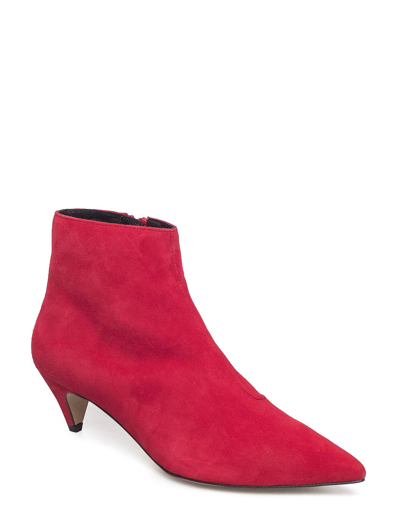 Henry Kole Alessa Shoes Boots Ankle Boots Ankle Boots With Heel Punainen Henry Kole