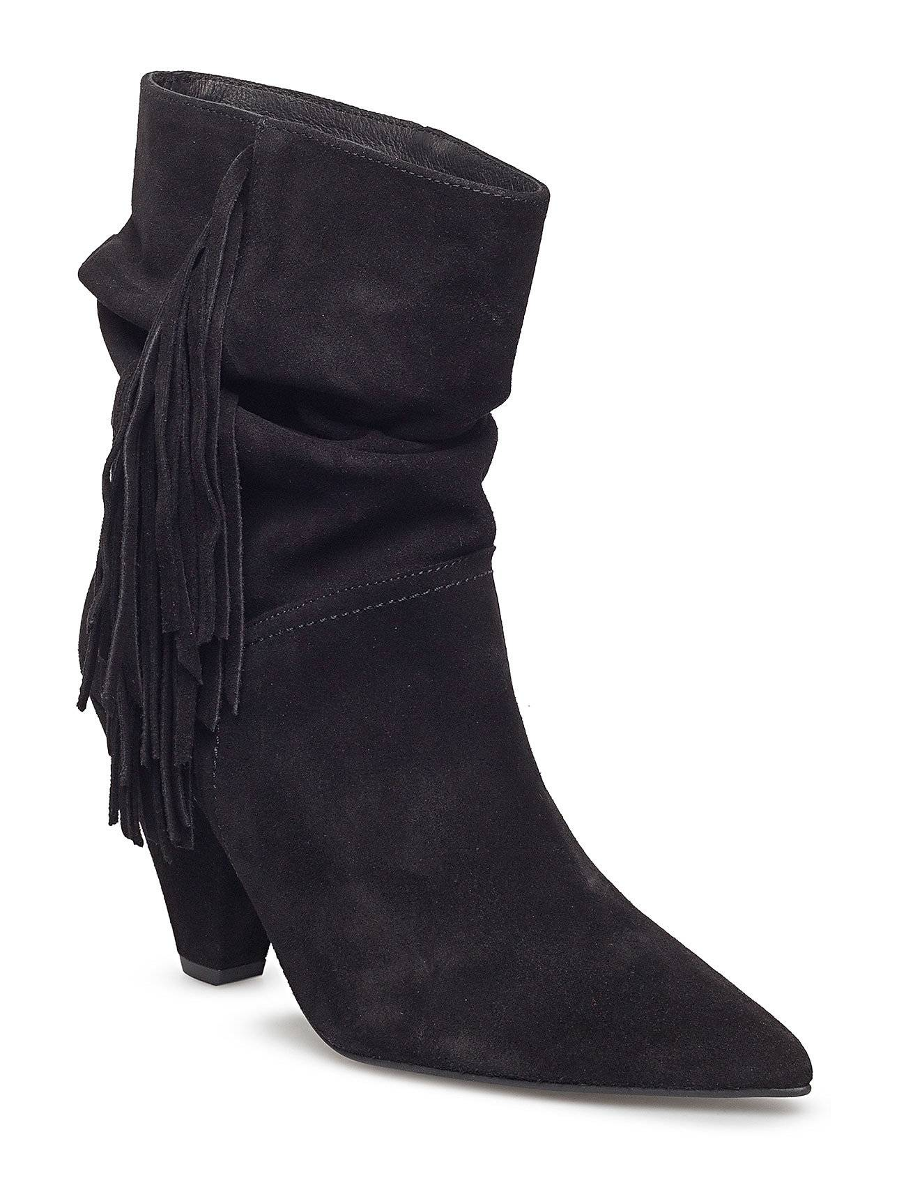 Henry Kole Amy Shoes Boots Ankle Boots Ankle Boots With Heel Musta Henry Kole