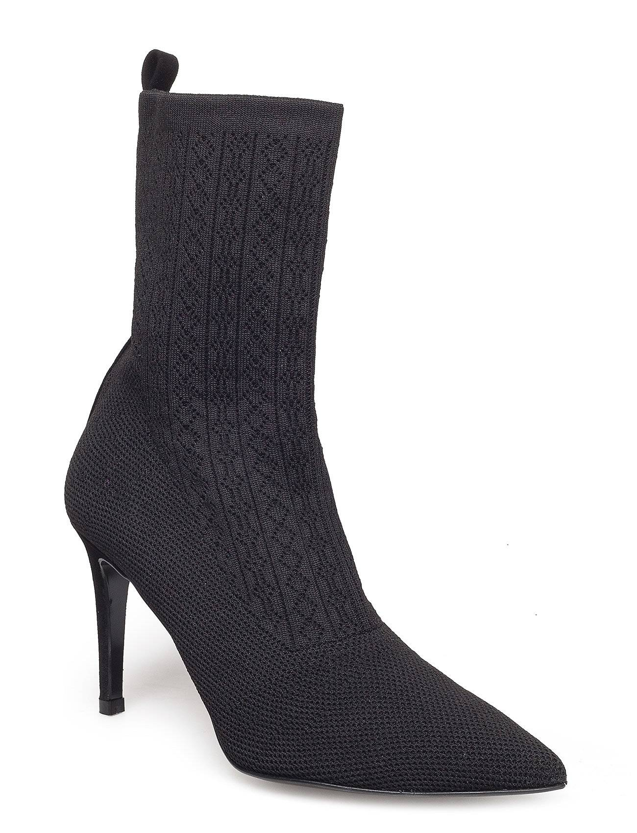 Henry Kole Mel Shoes Boots Ankle Boots Ankle Boots With Heel Musta Henry Kole