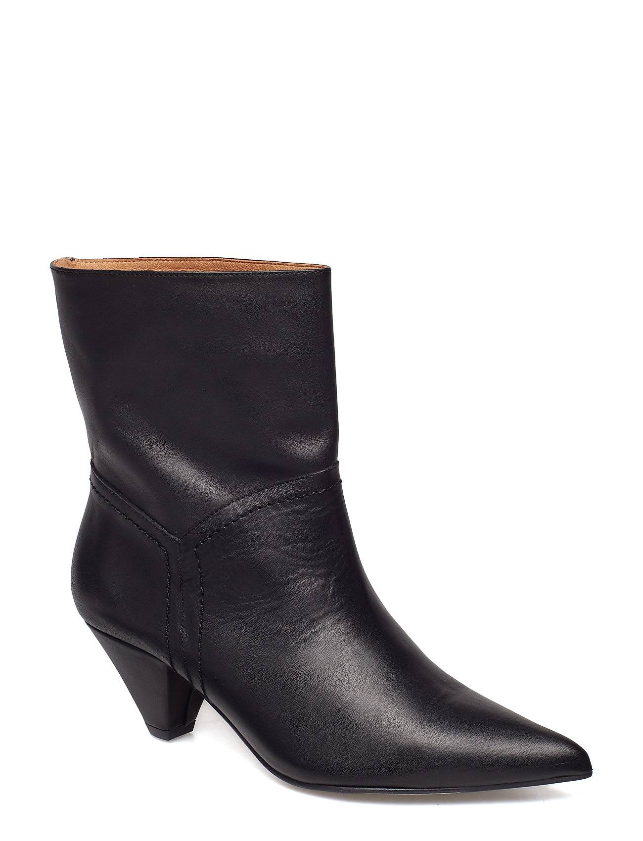 Henry Kole Selena Shoes Boots Ankle Boots Ankle Boots With Heel Musta Henry Kole