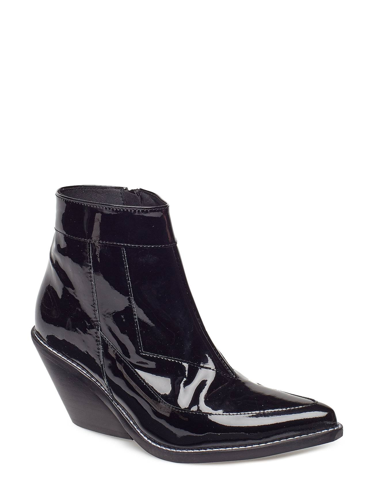 Henry Kole Evie Shoes Boots Ankle Boots Ankle Boots With Heel Musta Henry Kole