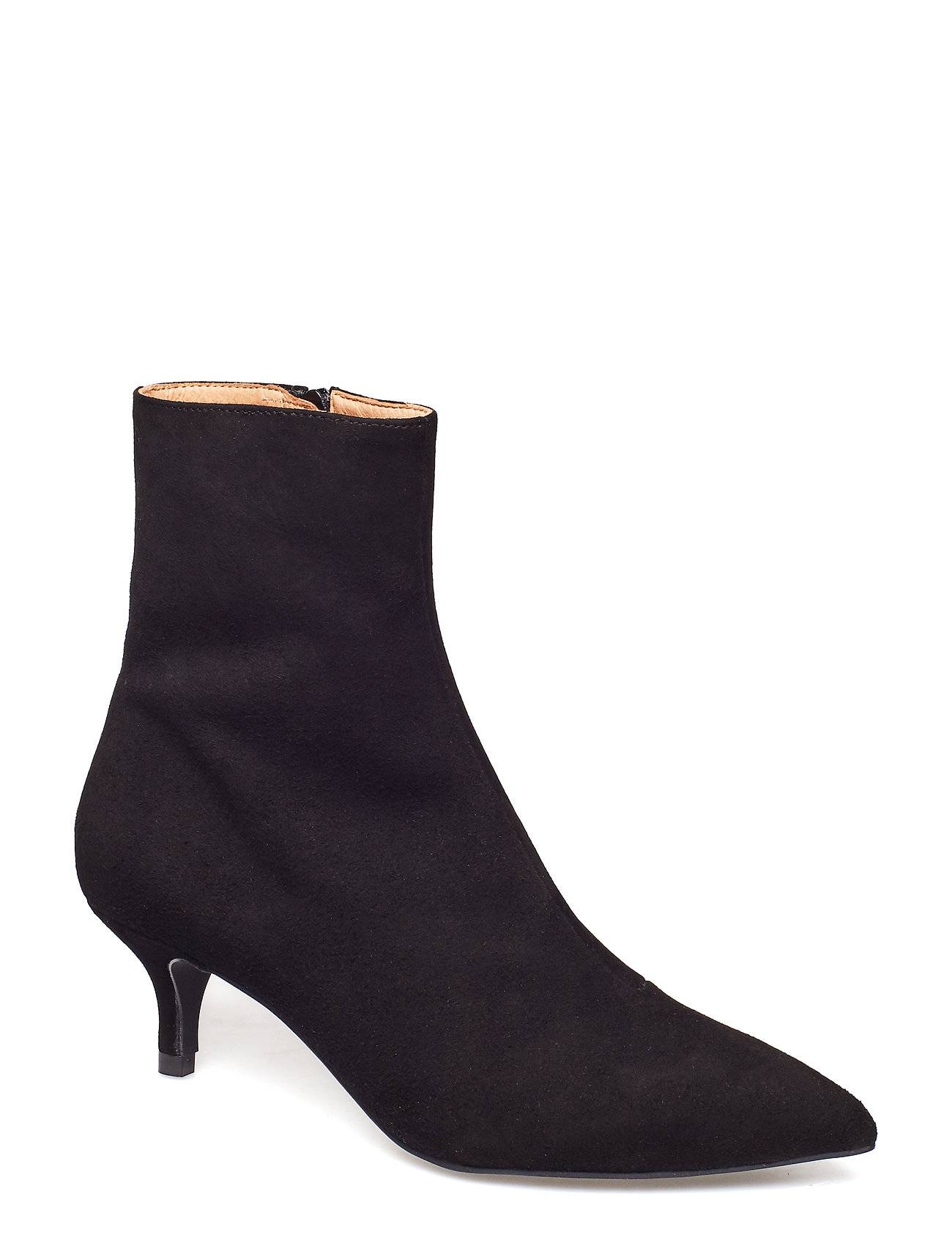 Henry Kole Grace Shoes Boots Ankle Boots Ankle Boots With Heel Musta Henry Kole