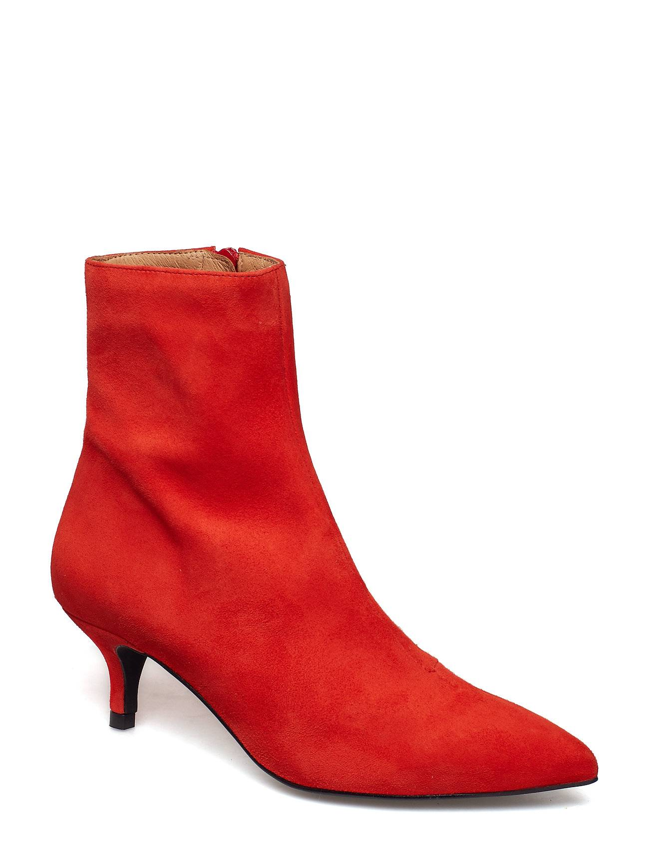 Henry Kole Grace Shoes Boots Ankle Boots Ankle Boots With Heel Punainen Henry Kole