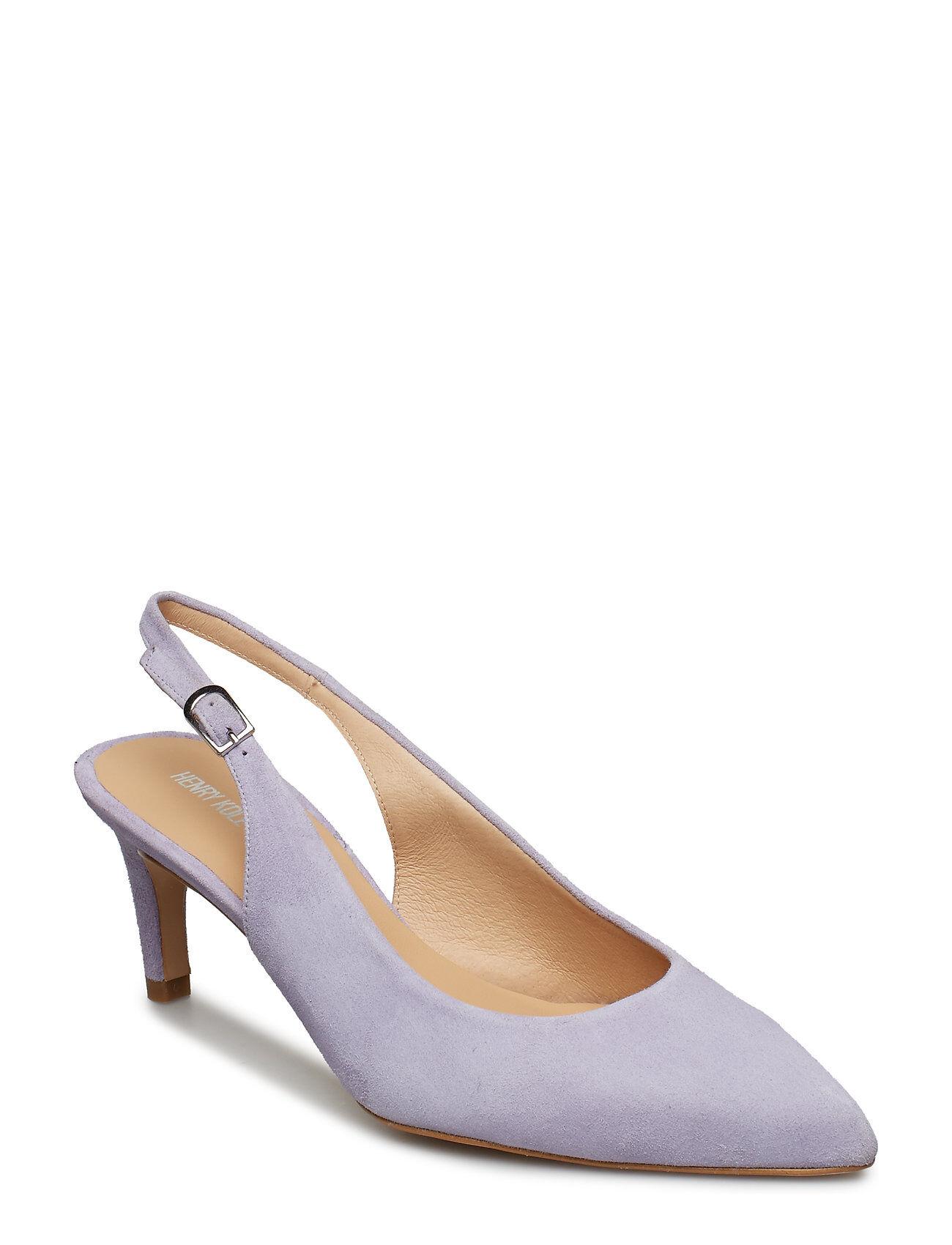 Henry Kole Lisa Suede Black Shoes Heels Pumps Sling Backs Beige Henry Kole