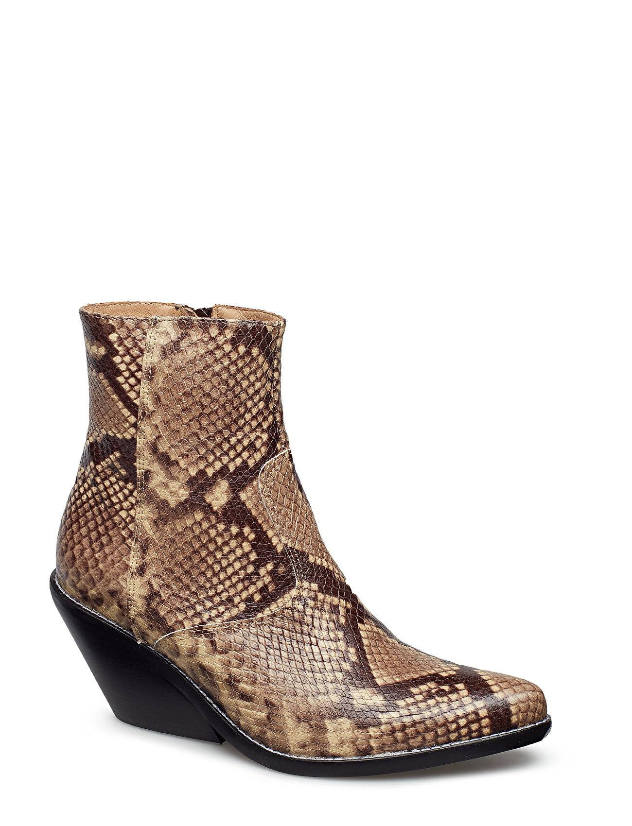 Henry Kole Evie Snake Brown Shoes Boots Ankle Boots Ankle Boots With Heel Ruskea Henry Kole