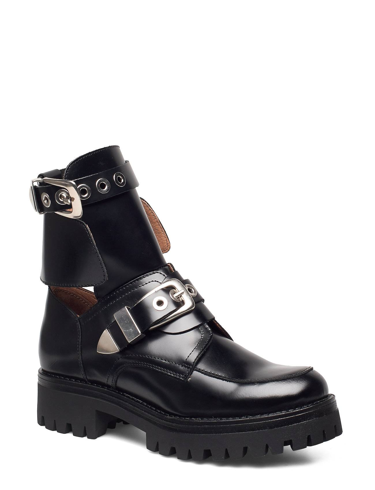 Henry Kole Melanie High Shine Black Shoes Boots Ankle Boots Ankle Boots Flat Heel Musta Henry Kole