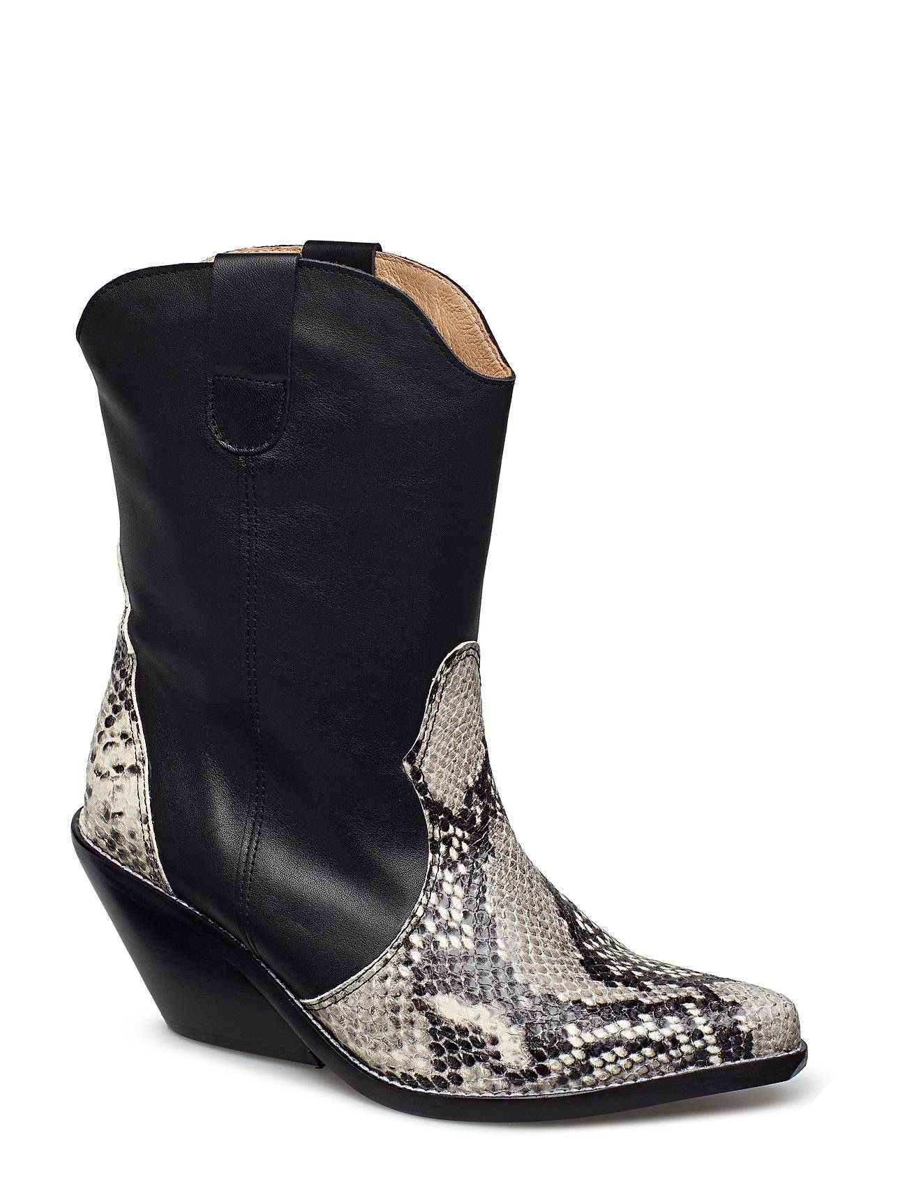Henry Kole Livia X Snake Grey Shoes Boots Ankle Boots Ankle Boots With Heel Musta Henry Kole
