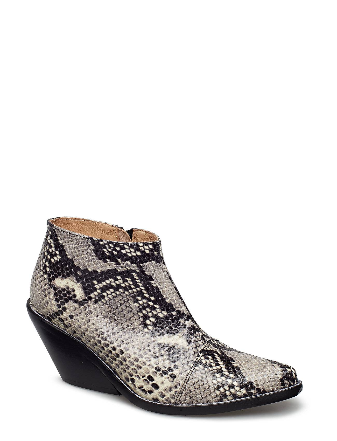 Henry Kole Ava Snake Shoes Boots Ankle Boots Ankle Boots With Heel Musta Henry Kole