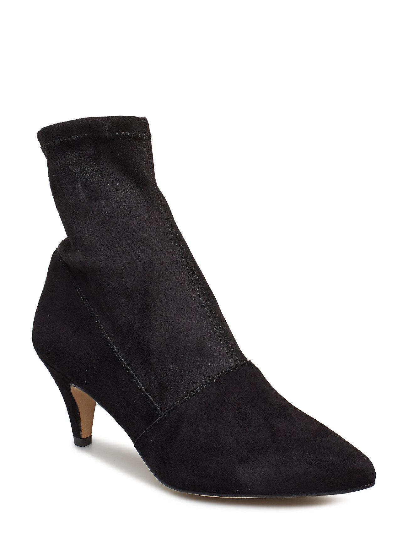 Henry Kole Emma Lycra Black Shoes Boots Ankle Boots Ankle Boots With Heel Musta Henry Kole