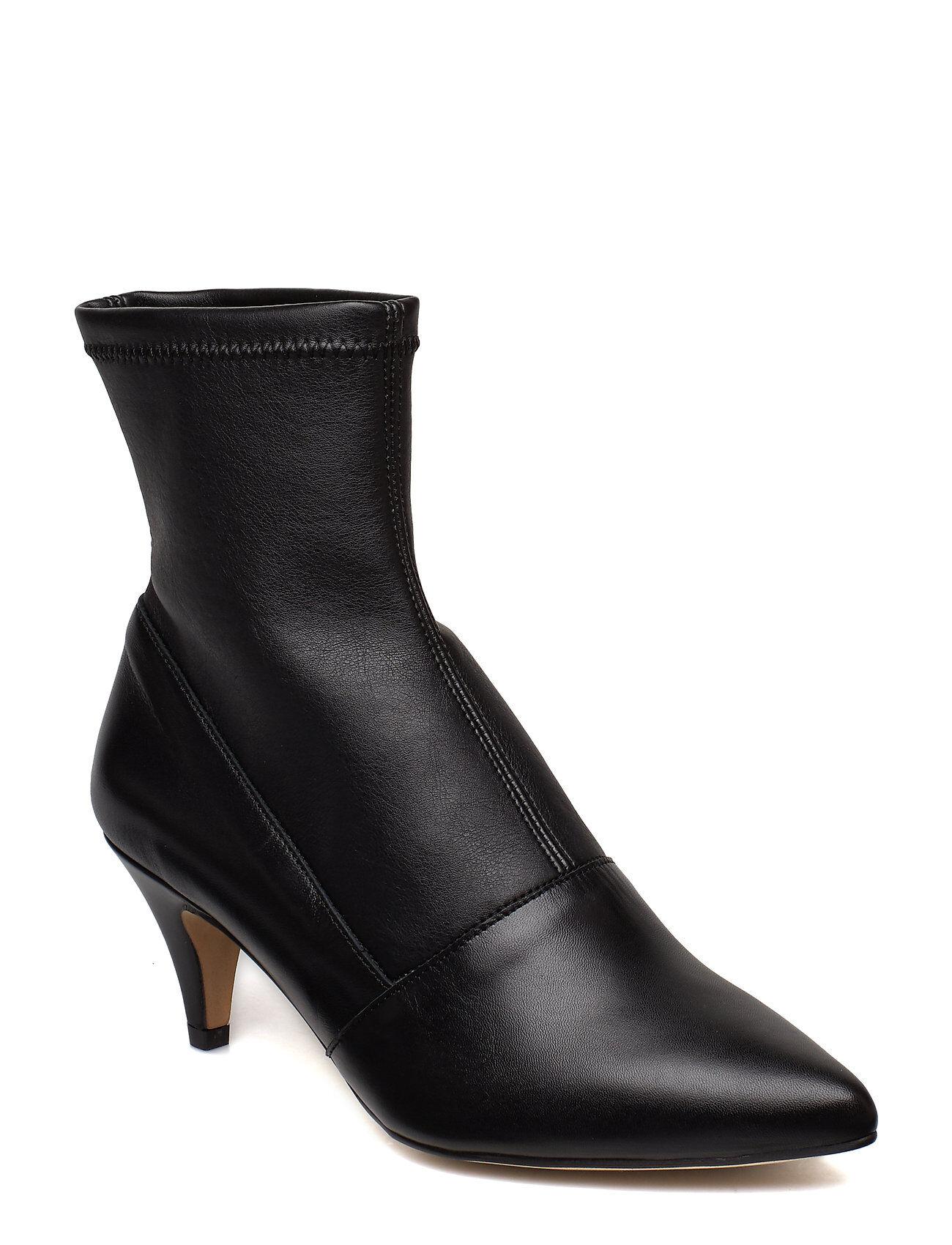 Henry Kole Emma Leather Black Shoes Boots Ankle Boots Ankle Boots With Heel Musta Henry Kole